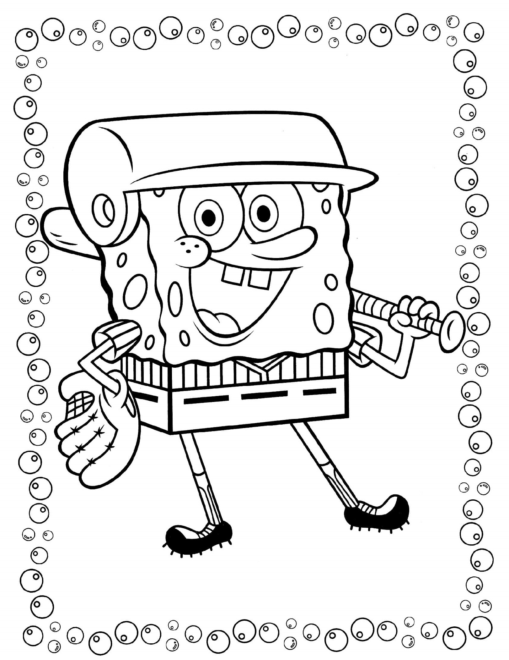 Spongebob Coloring Pages Playing