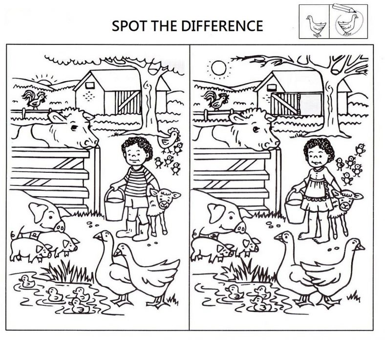 Spot The Difference Worksheets Free
