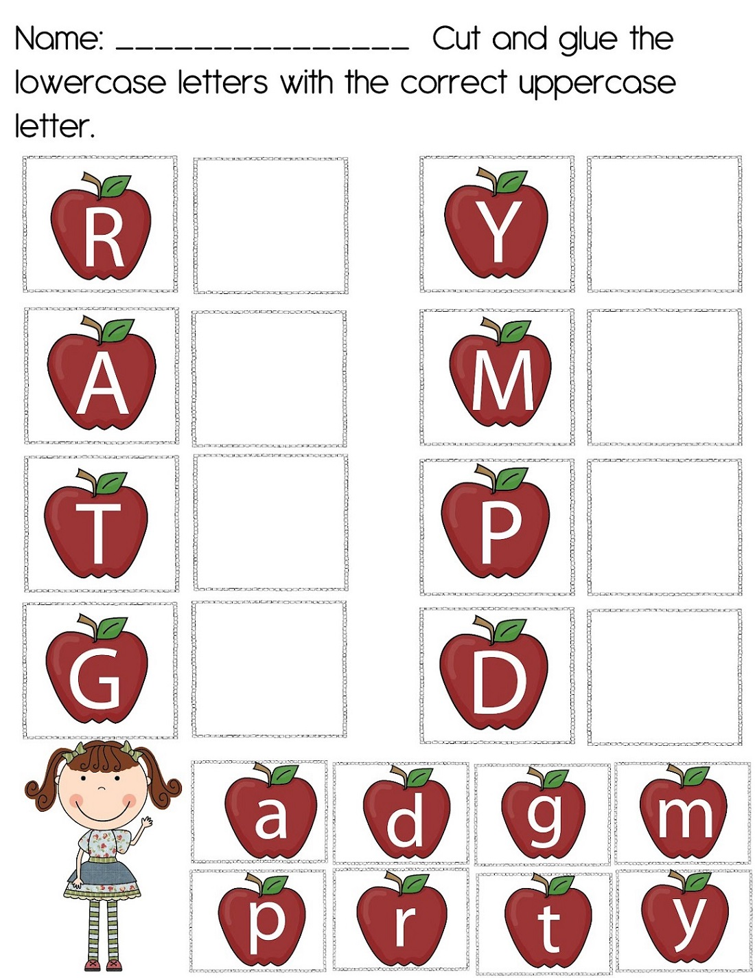 Uppercase and Lowercase Alphabet Worksheet
