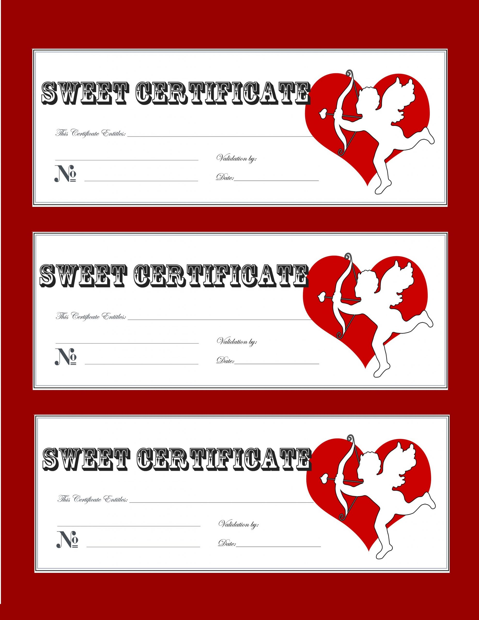 Valentines Gift Certificate Template