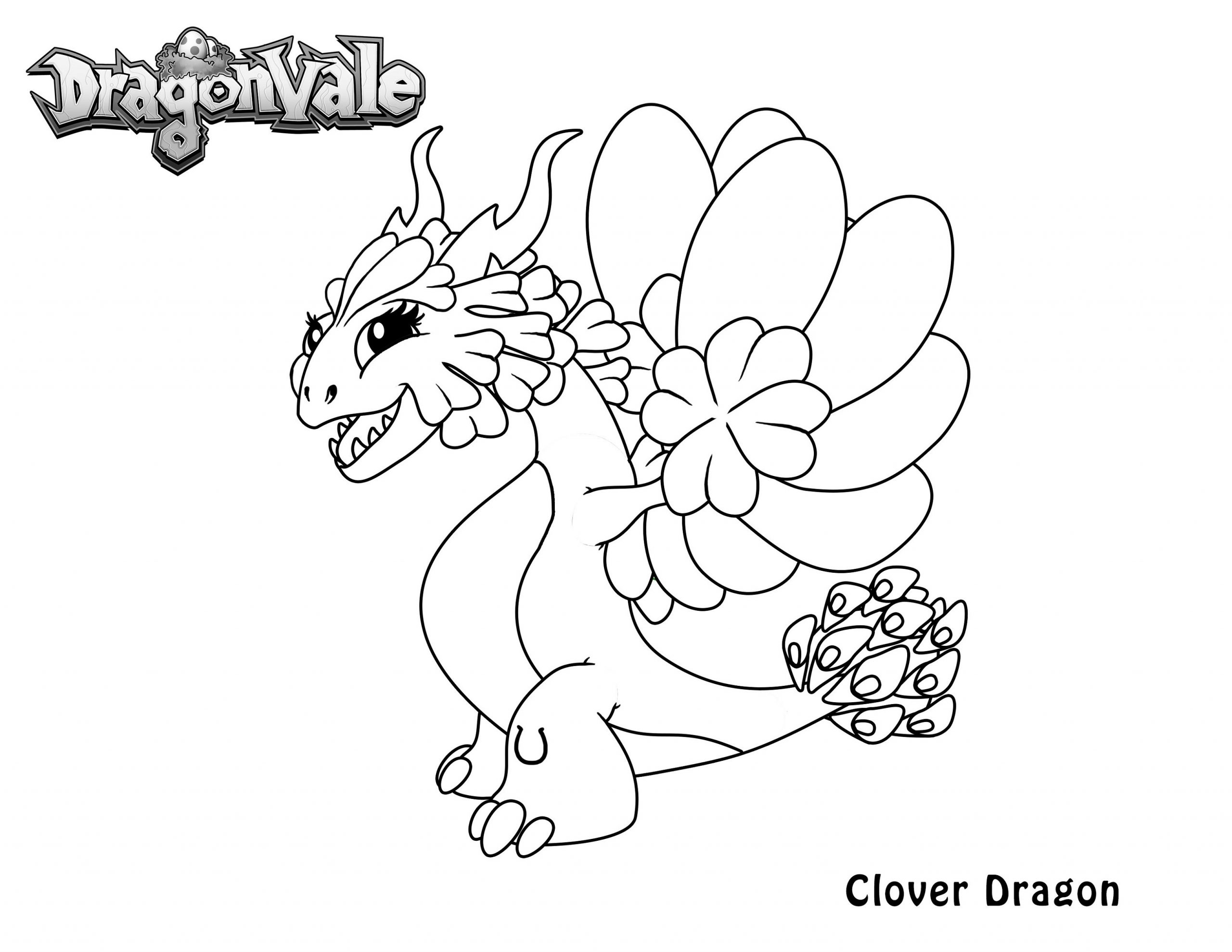 Baby Dragon Colouring Pages