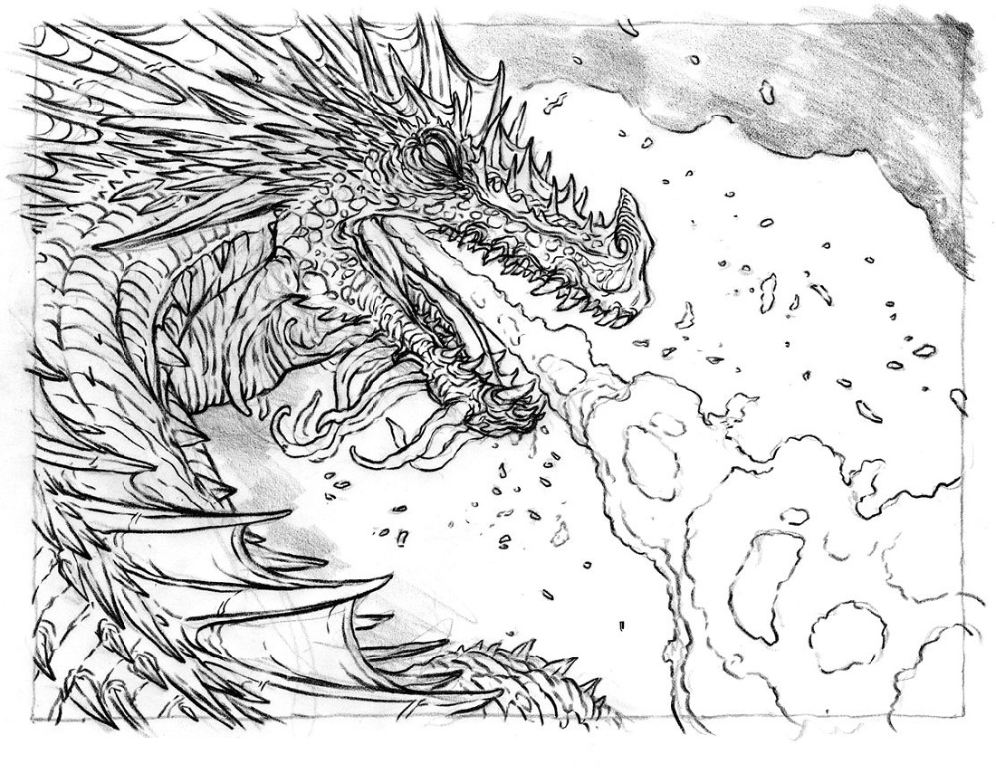 Dragon Colouring Pages Fire Breathing