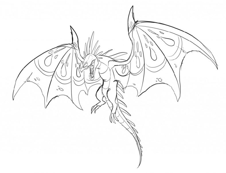 Dragon Colouring Pages Flying