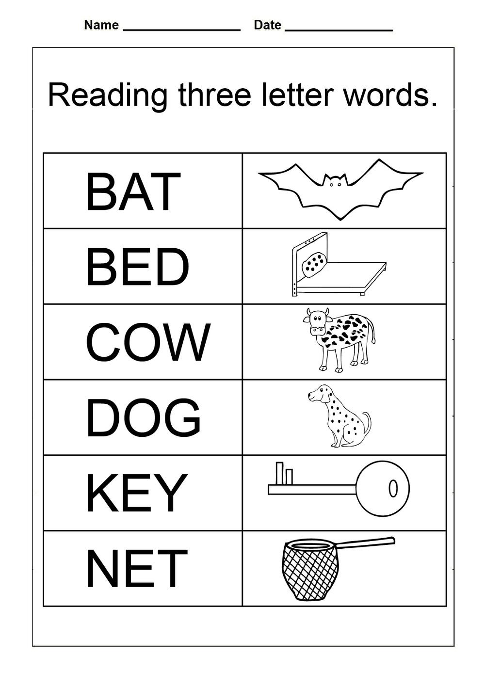 Free Preschool Printables Reading