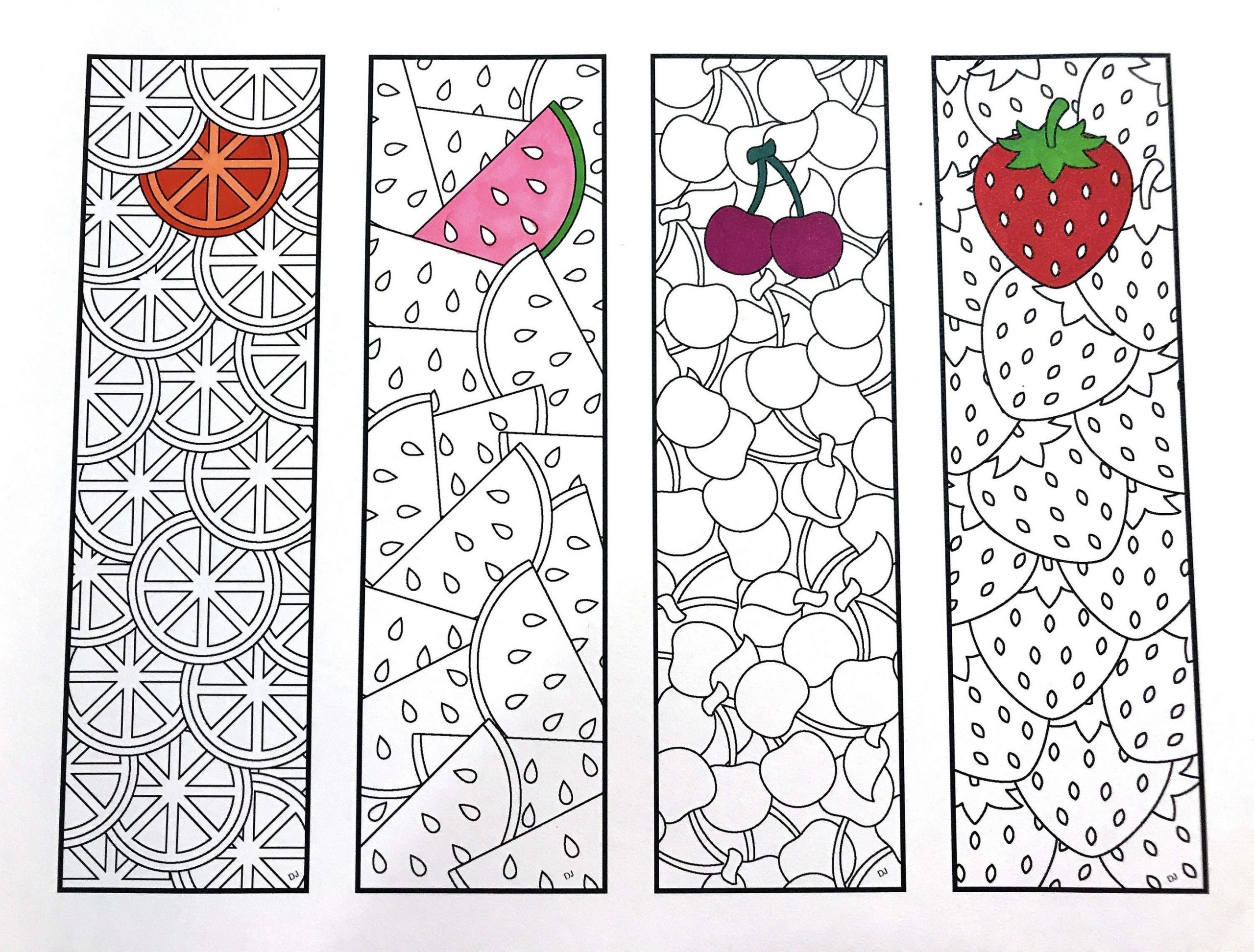 Fruit Printable Bookmarks For Kids
