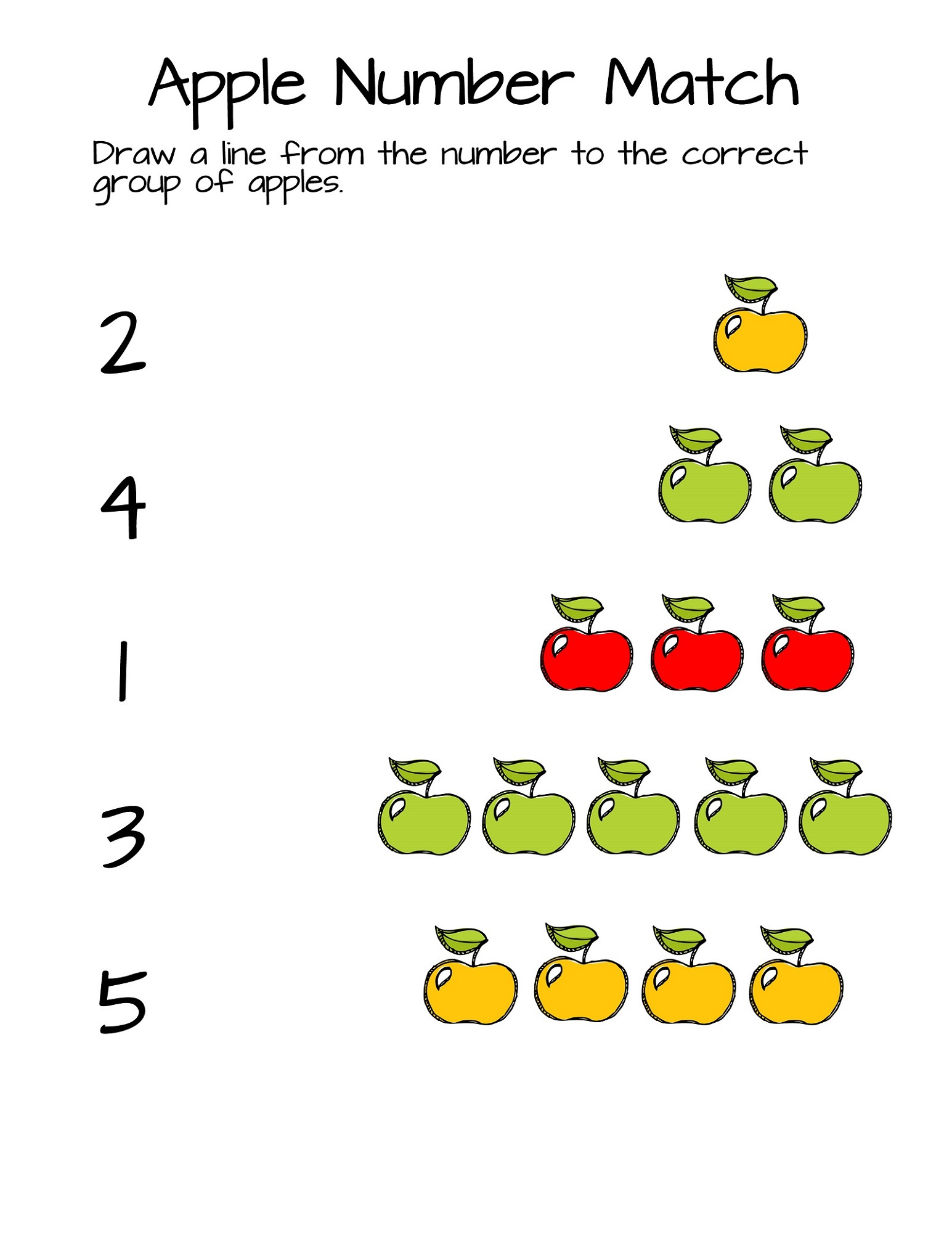 Matching Numbers and Shapes