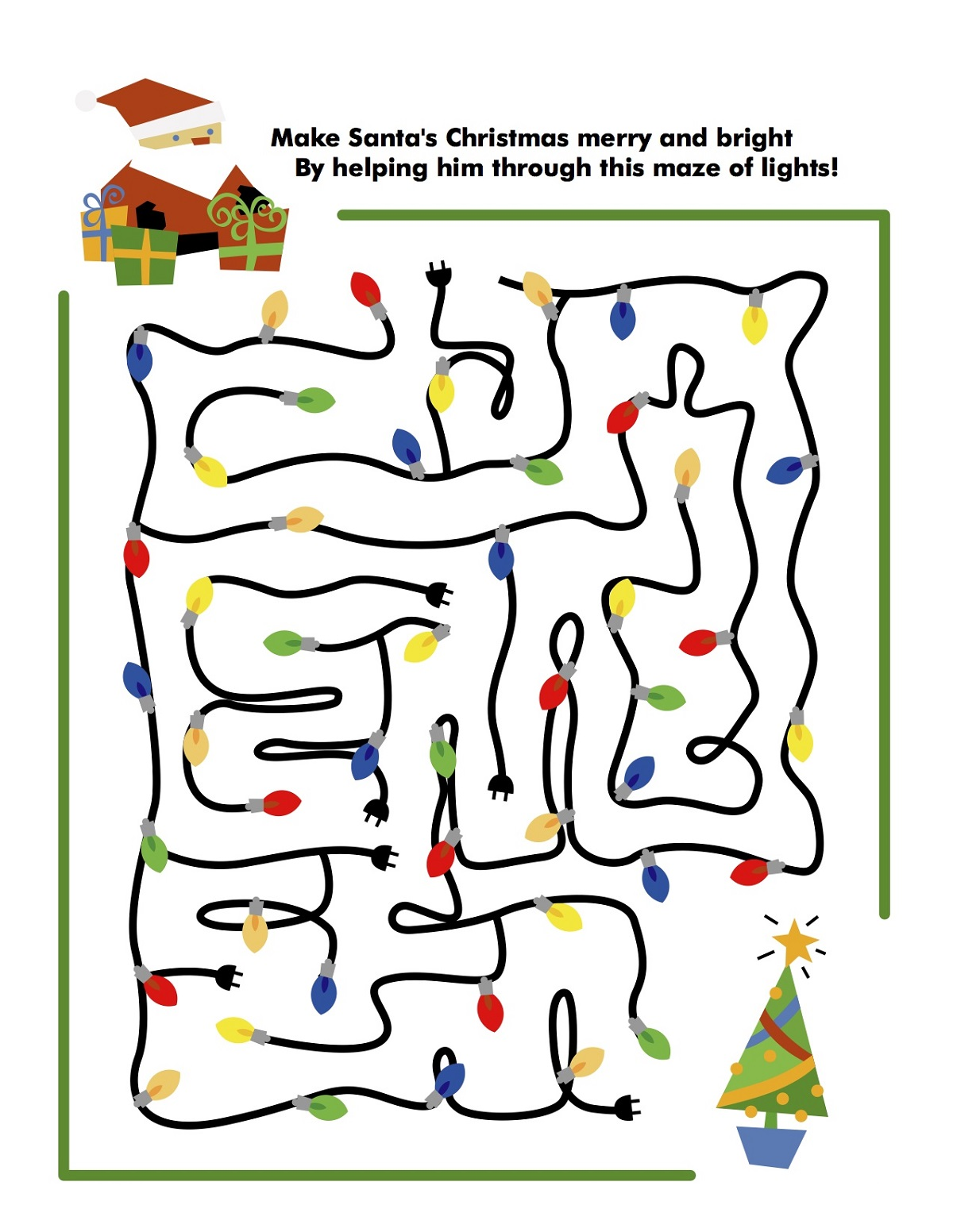 Maze Christmas Activities for Kids