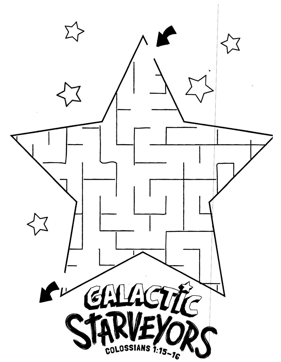 Outer Space Worksheets Maze