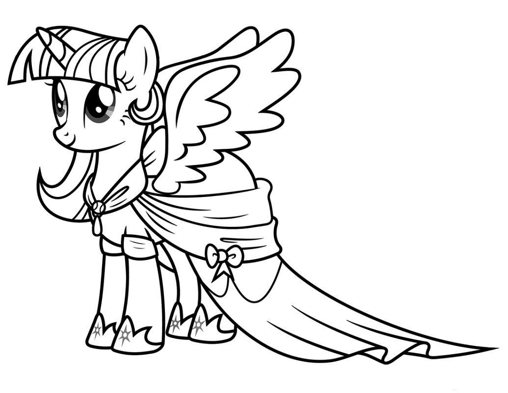 Twilight My Little Pony Coloring Pages