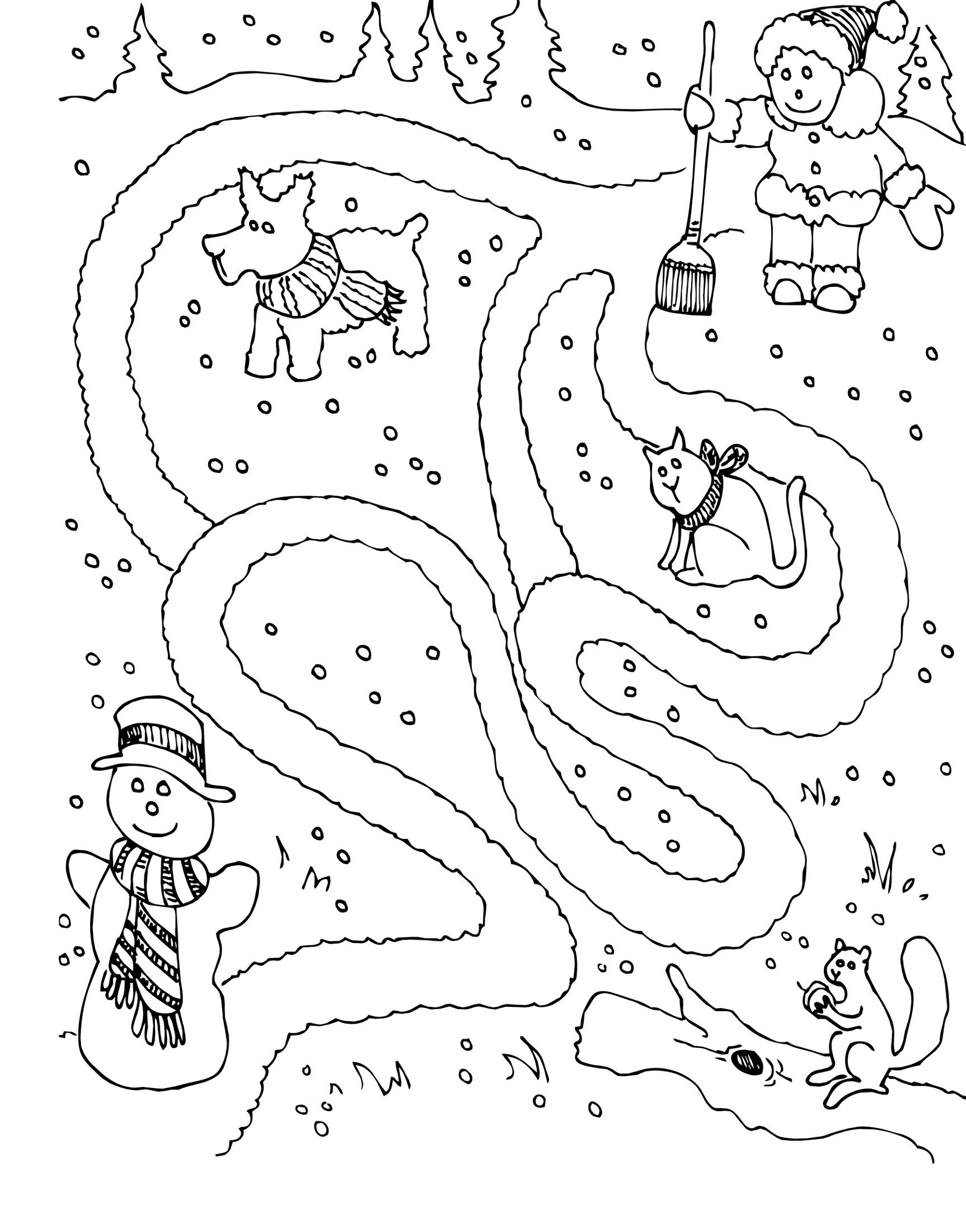 Winter Fun Activity Sheets