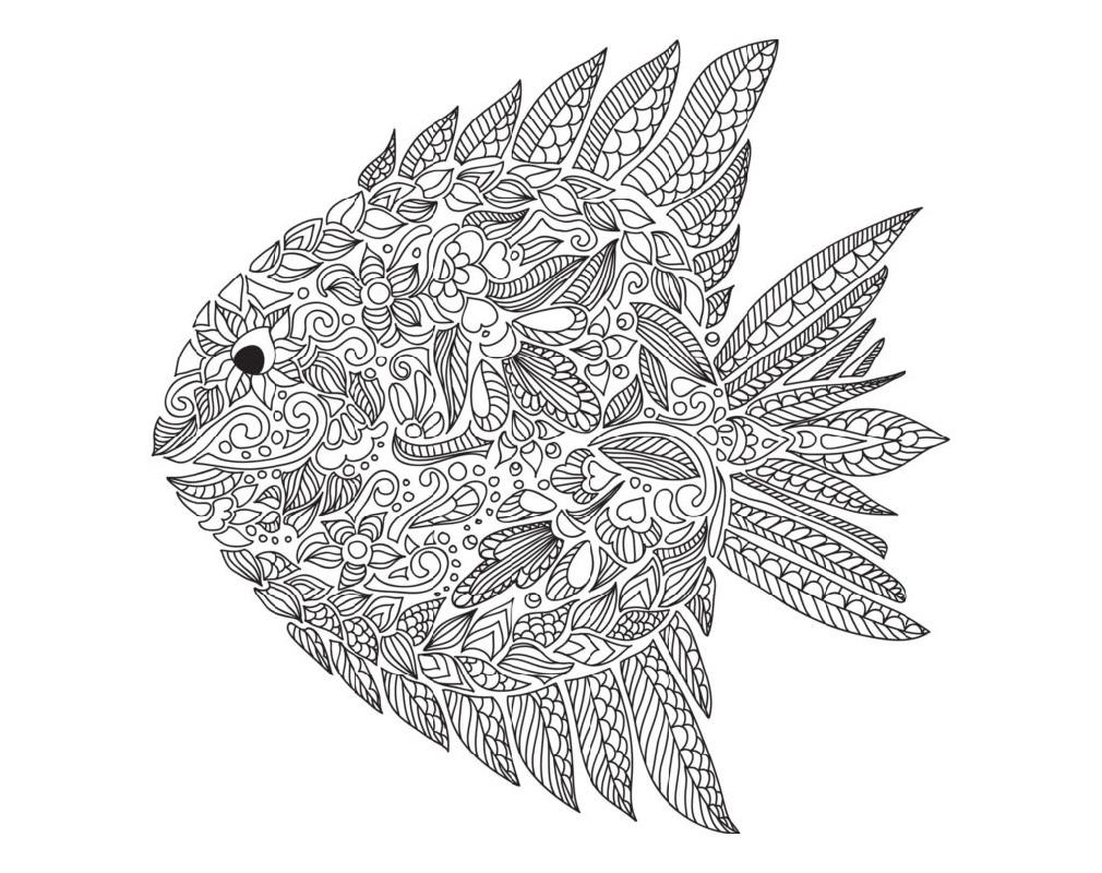 Beautiful Fish Color Sheet