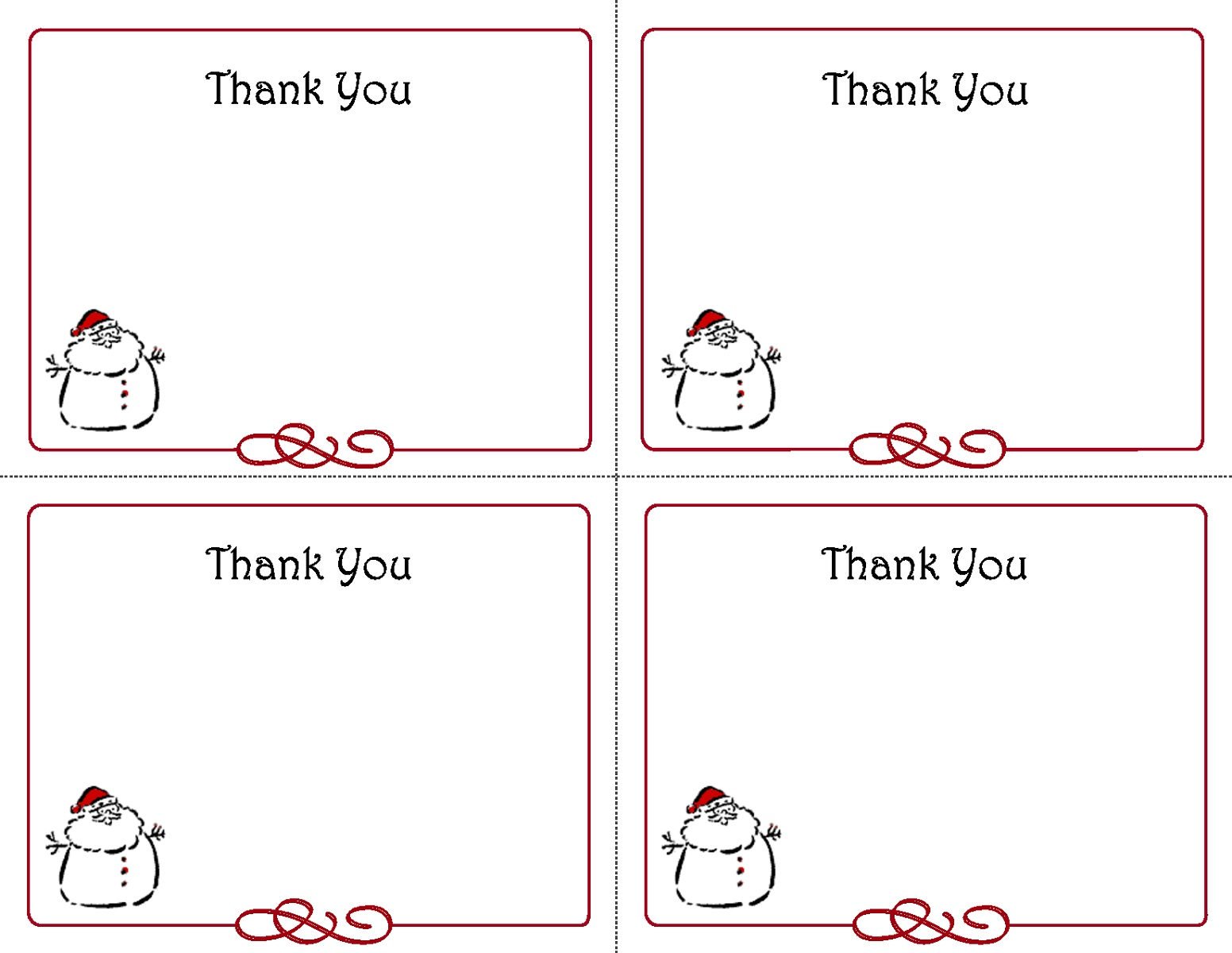 Christmas Thank You Note
