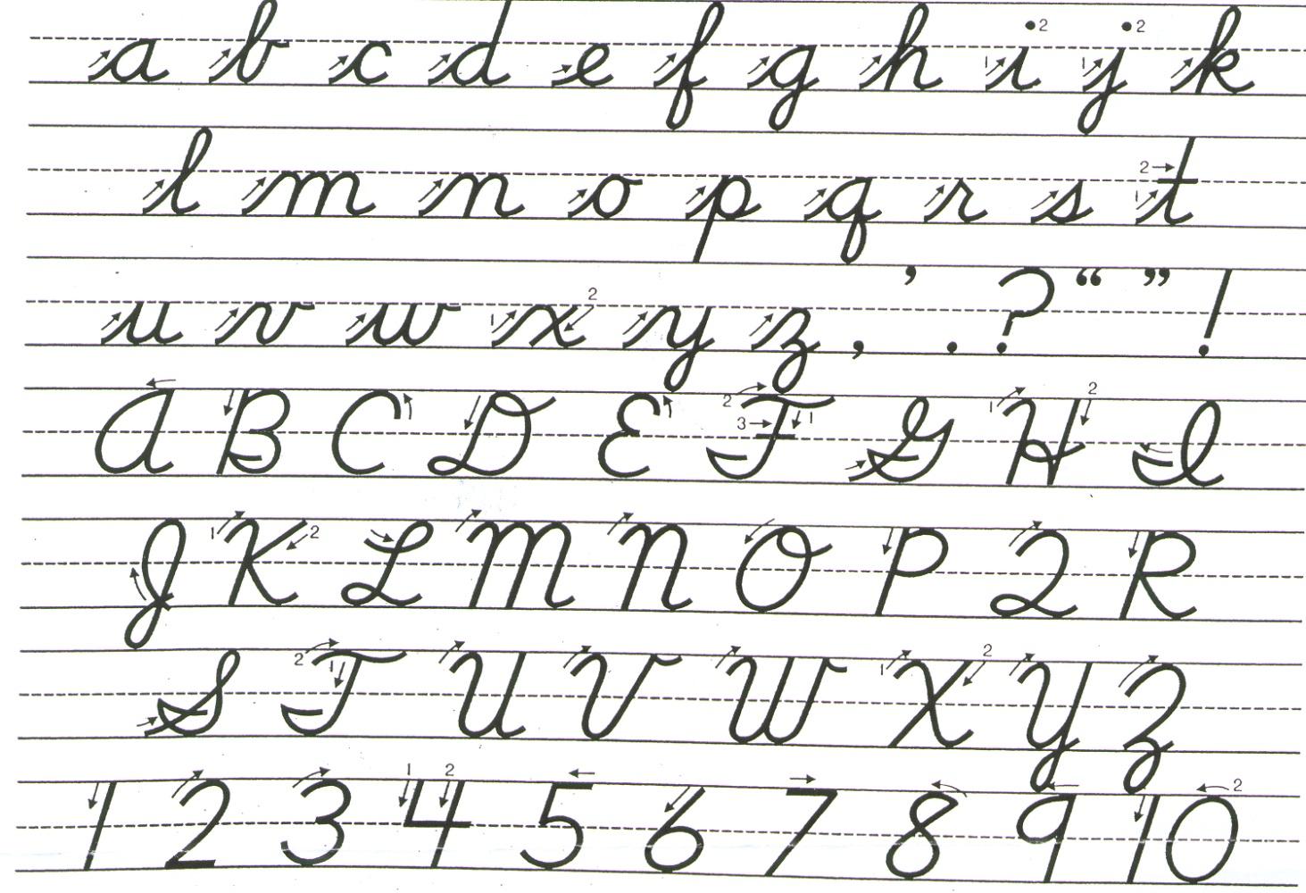 Cursive Letter Practic