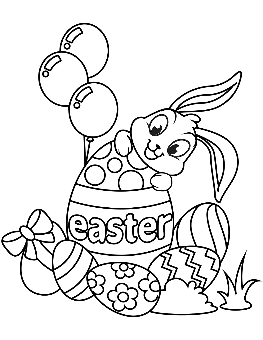 Easter Spring Coloring Pictures