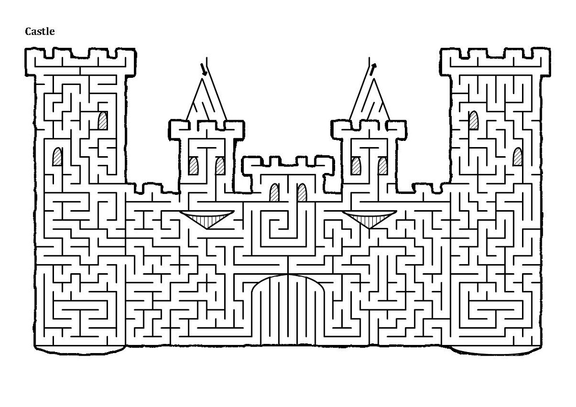Easy Printable Mazes for Adults