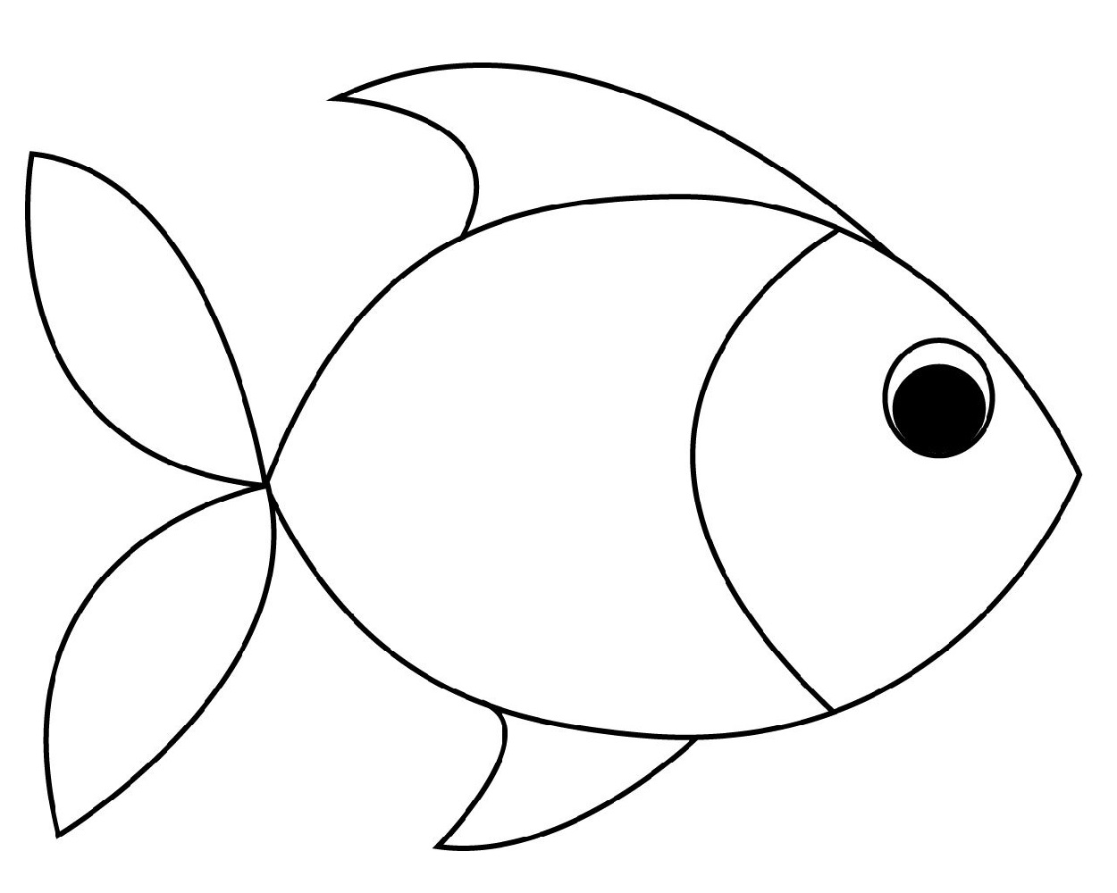 Fish Color Sheet for Preschool