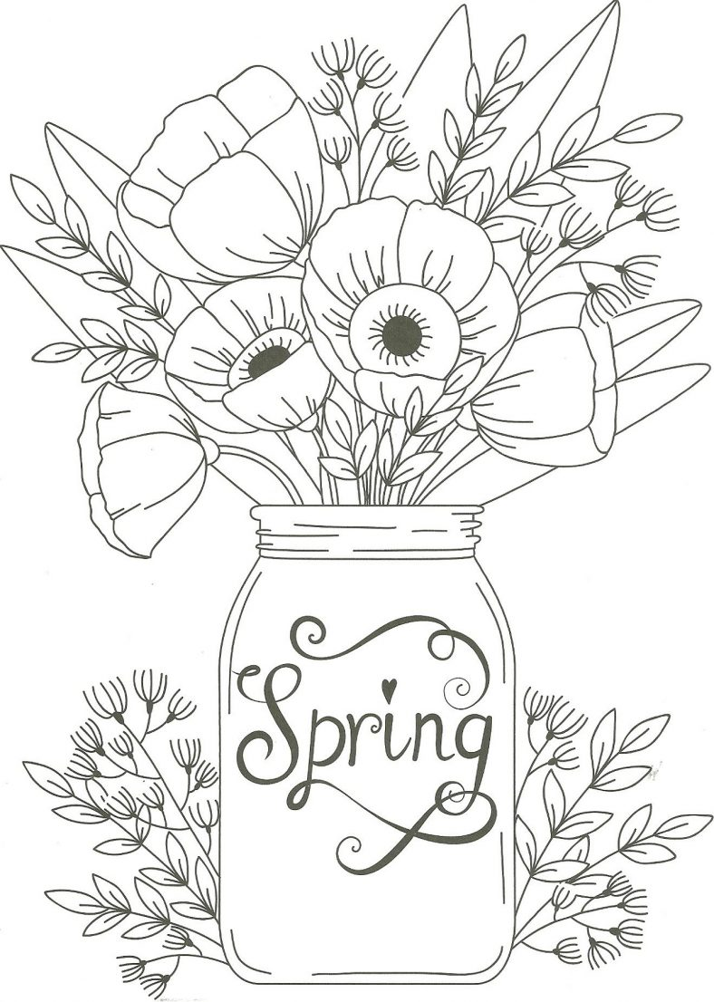 Flower Spring Coloring Pictures