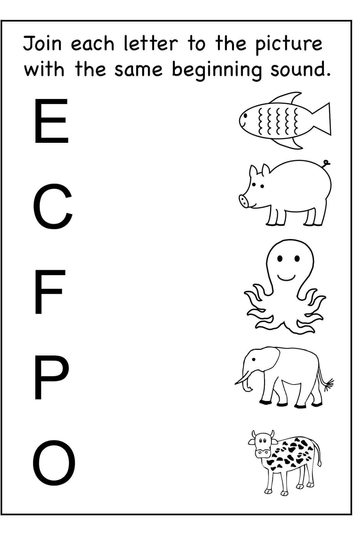 Free Fun Worksheets For Kids