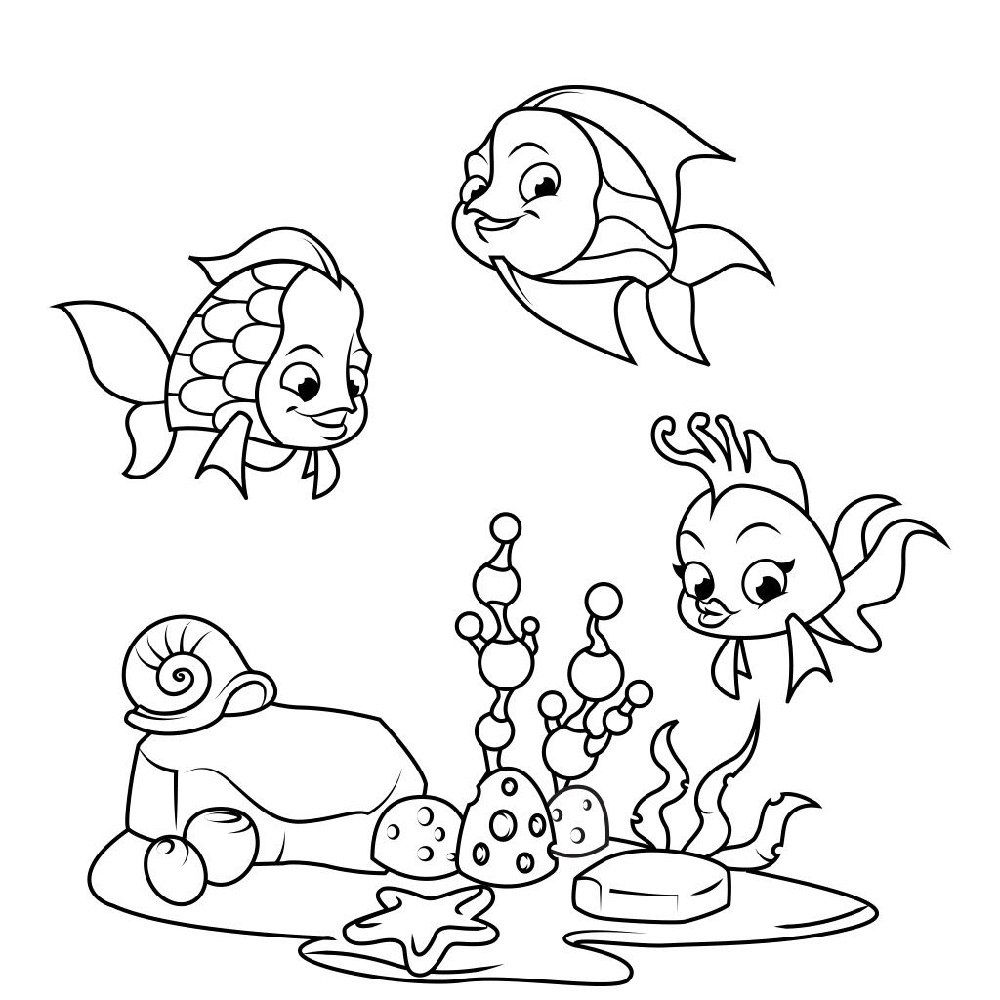 Fun Fish Color Sheet for Kids