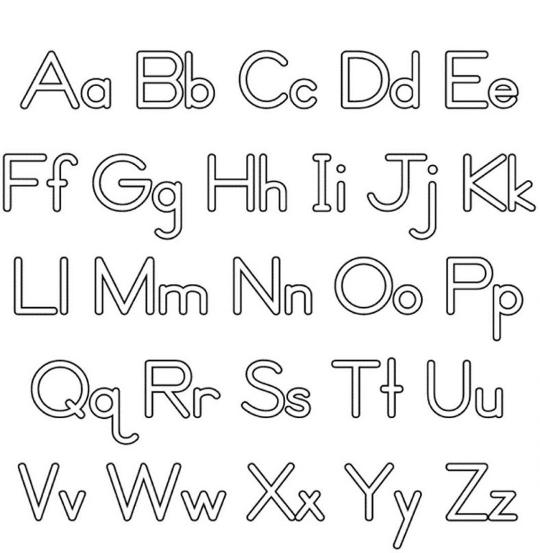 Lower and Upper Case Alphabet