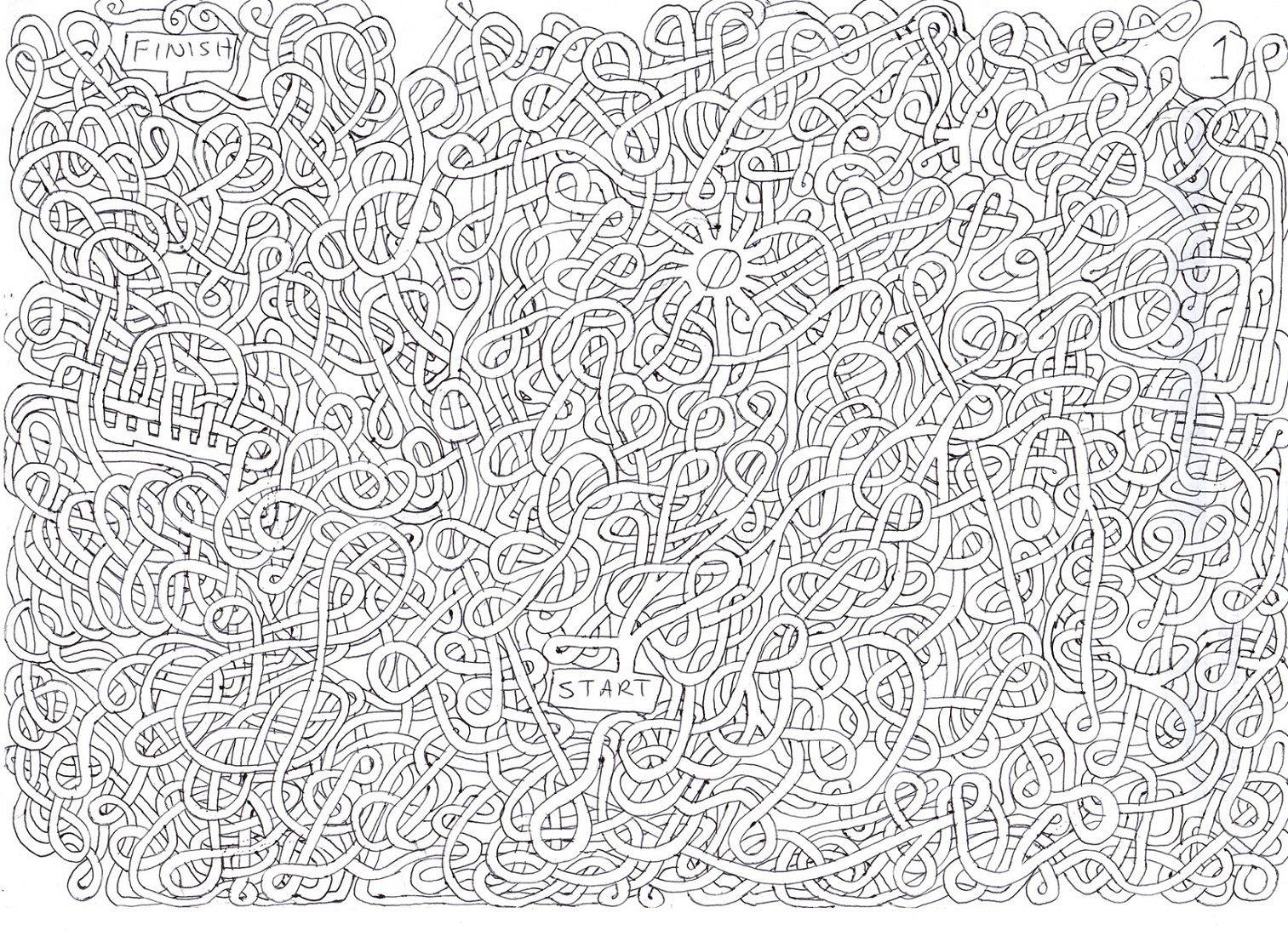 Maze Printable Games for Adults