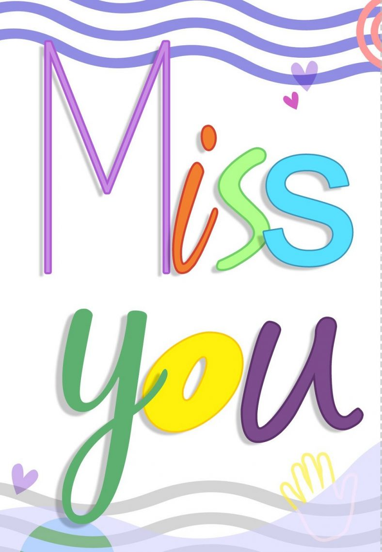 Miss You Cards To Print