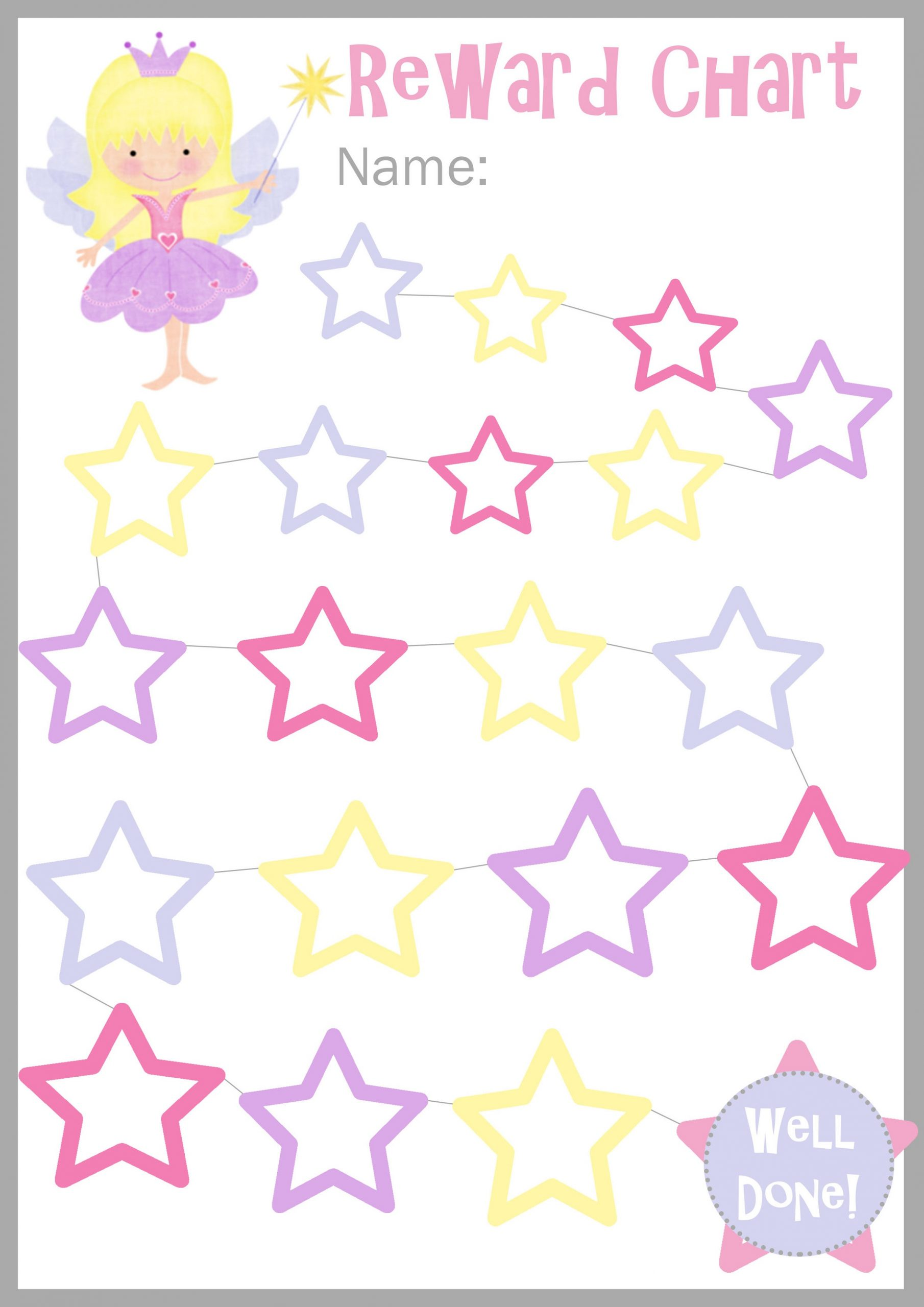 Printable Reward Charts for Girl