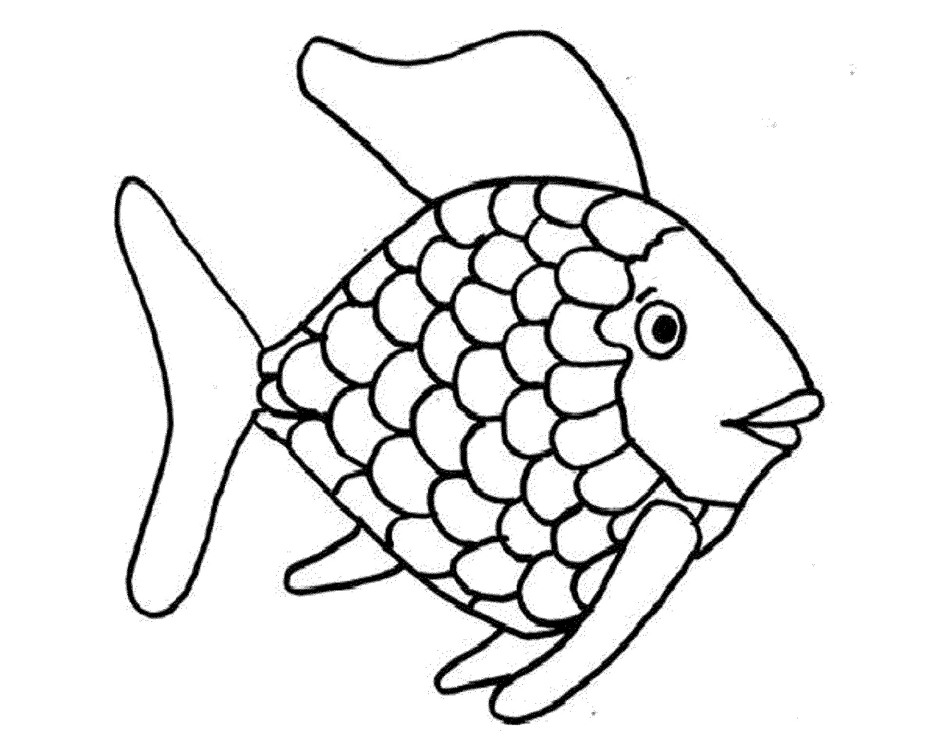 Rainbow Fish Color Sheet