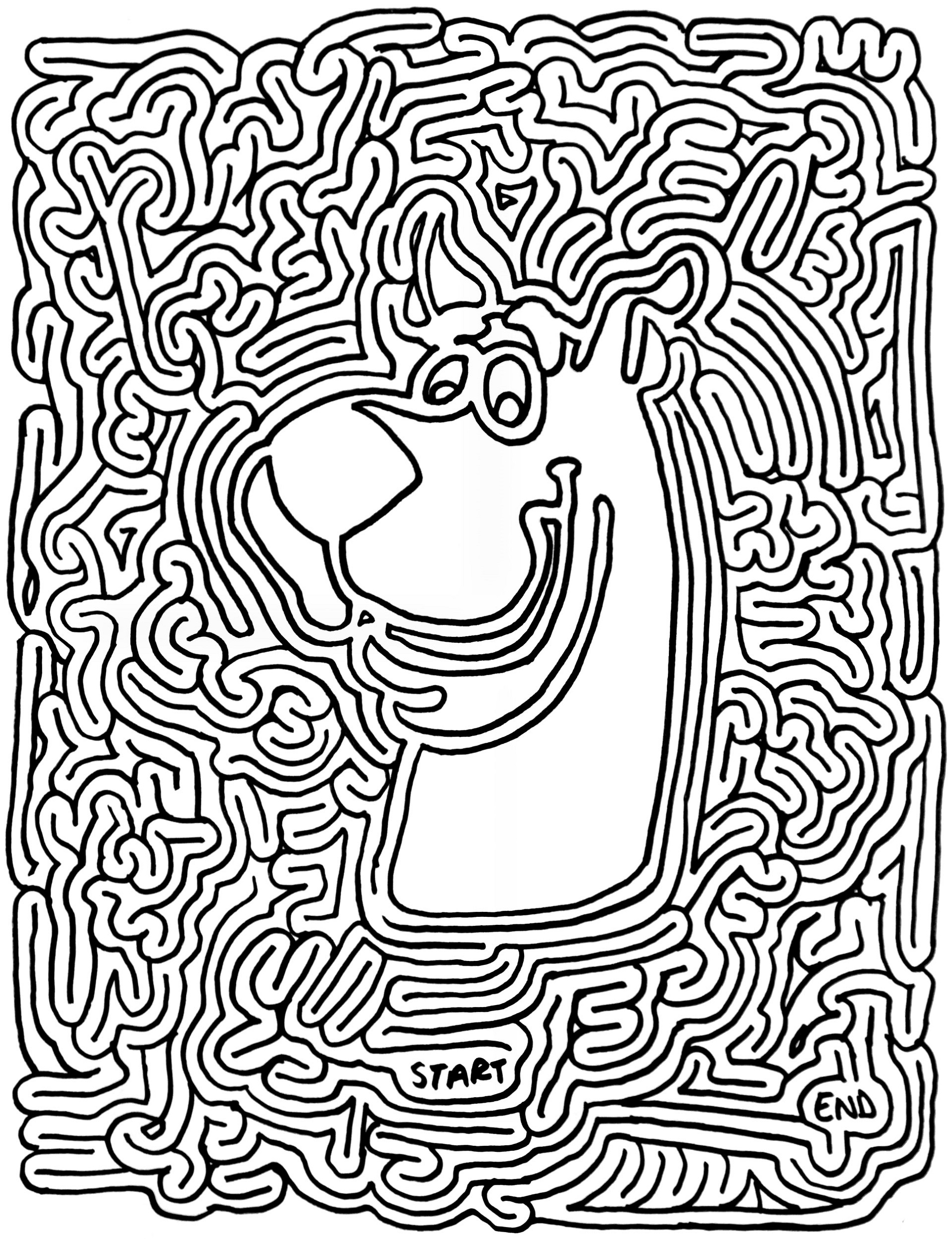 Scooby Doo Printable Mazes for Adults