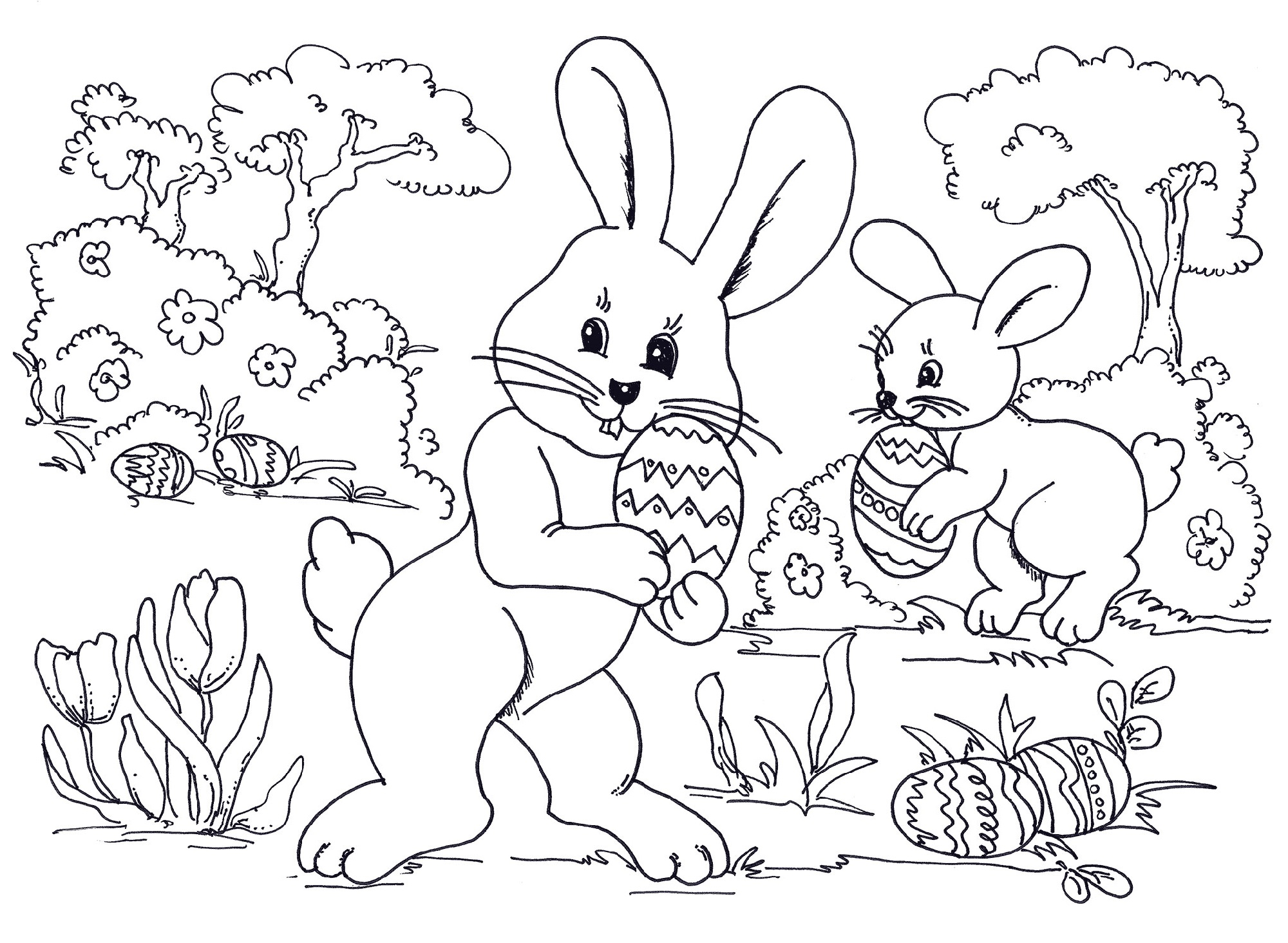 Spring Coloring Pictures for Kids