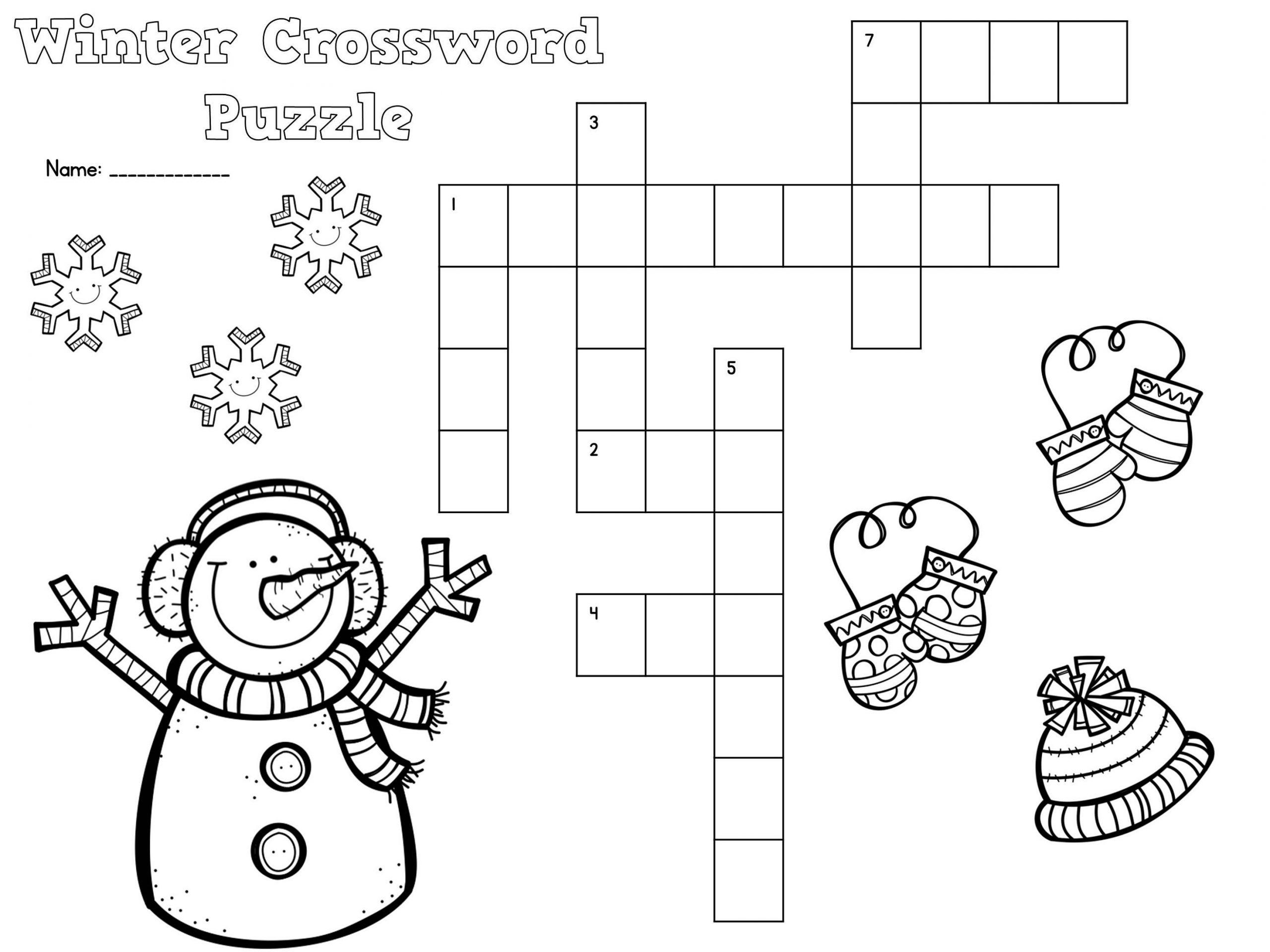 Winter Free Fun Worksheets