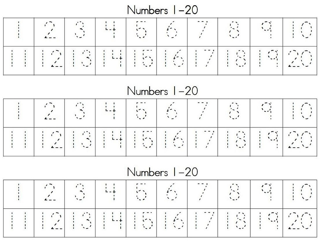 Writing Numbers Worksheet For Kids