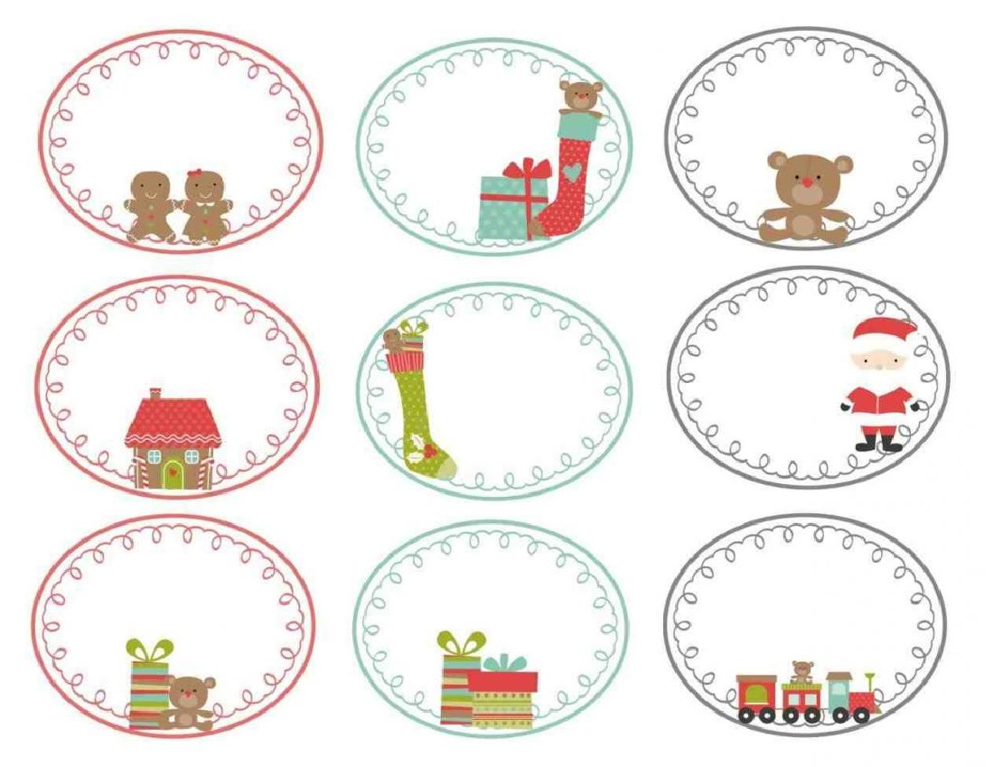 Christmas Gift Tag Free Printable Templates