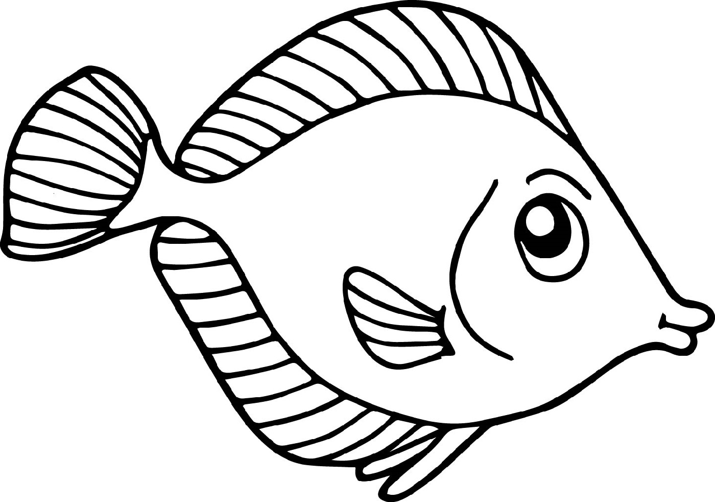 Fish Color Pages for Kids