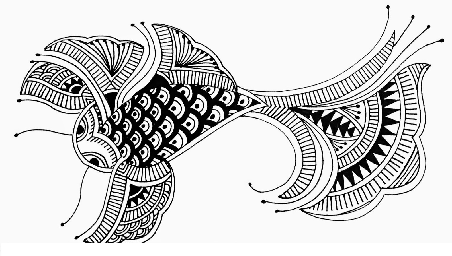 Fish Coloring Page For Adults