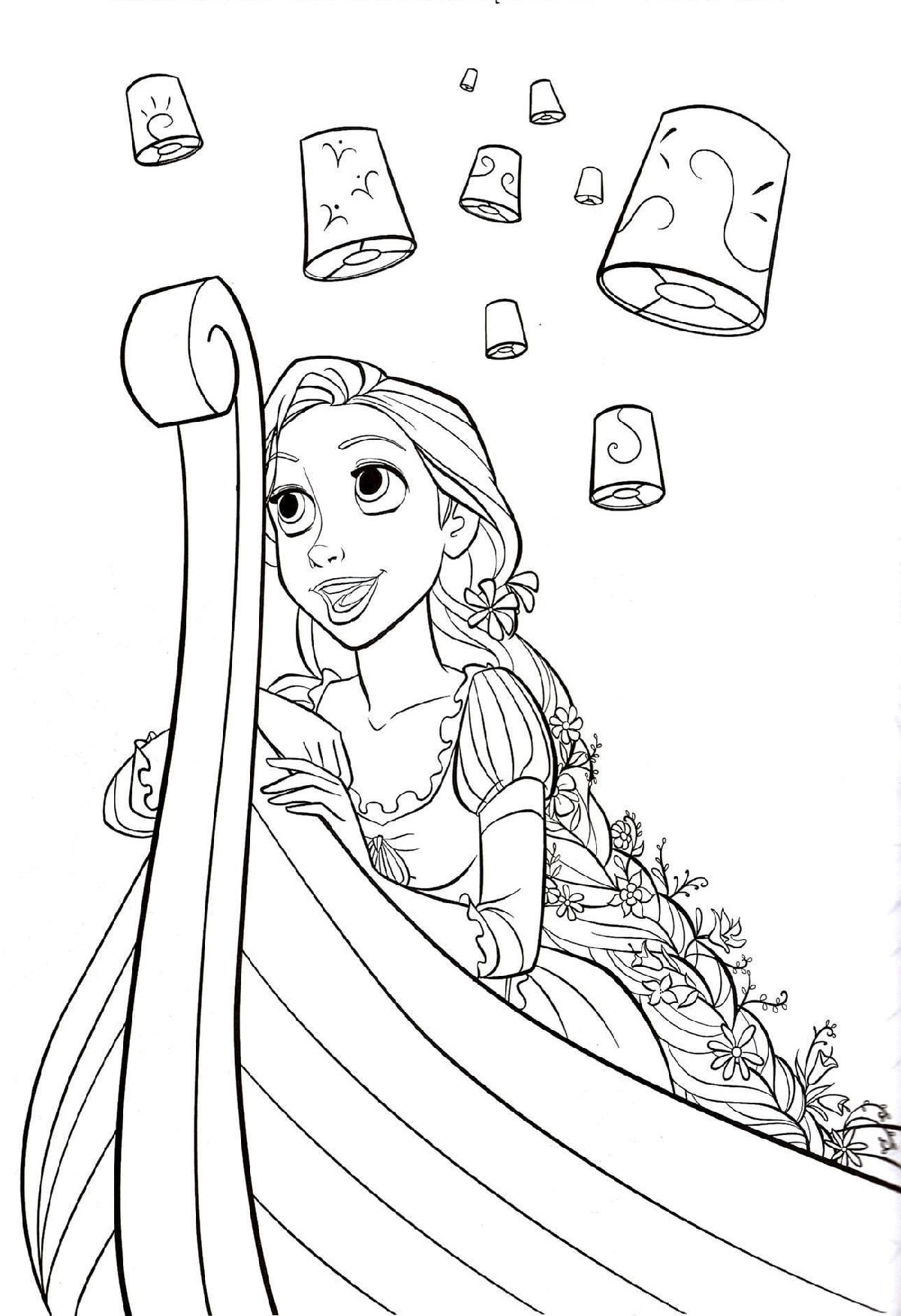 Rapunzel Color Pages Printable