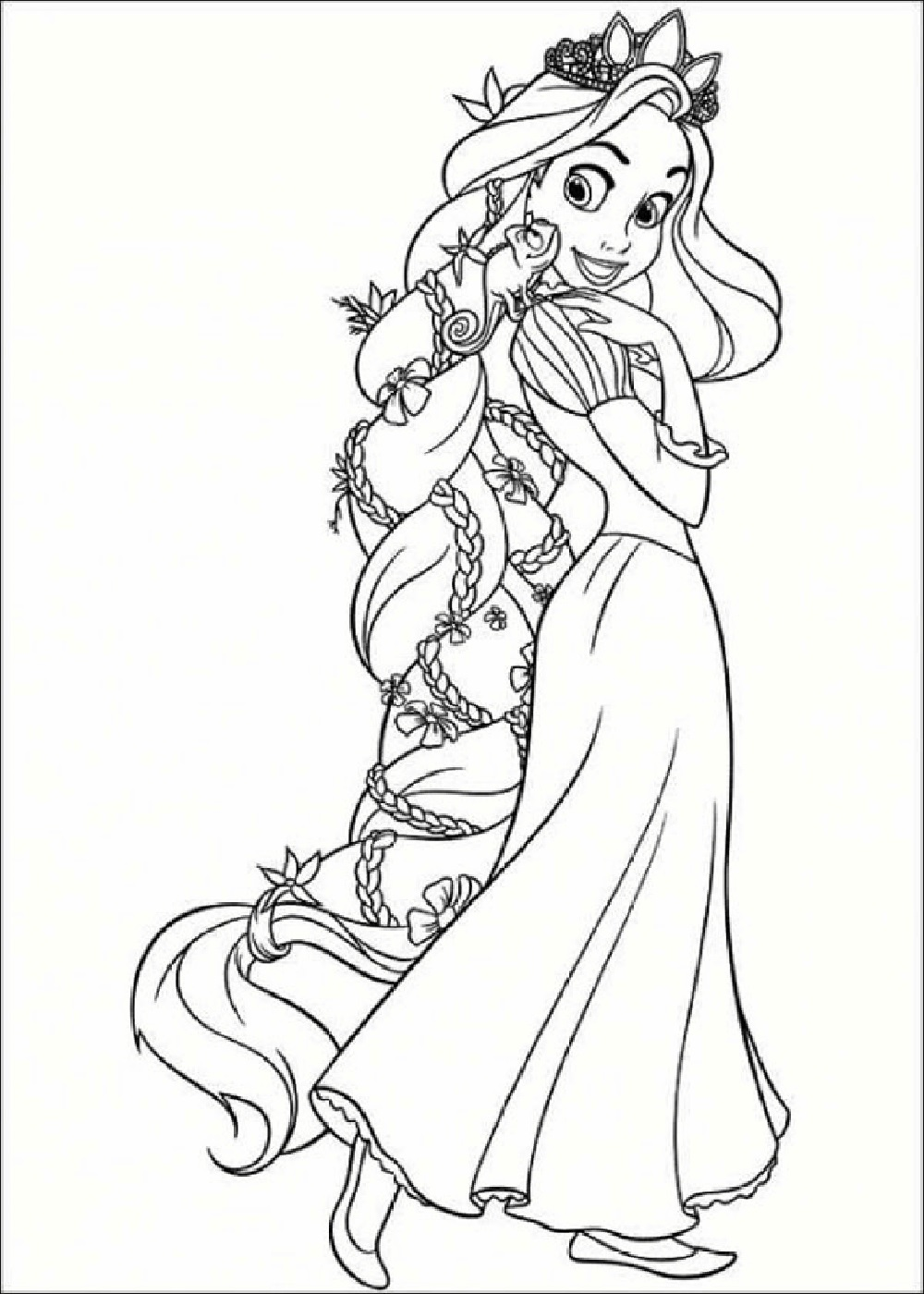 Rapunzel Color Pages for Adult