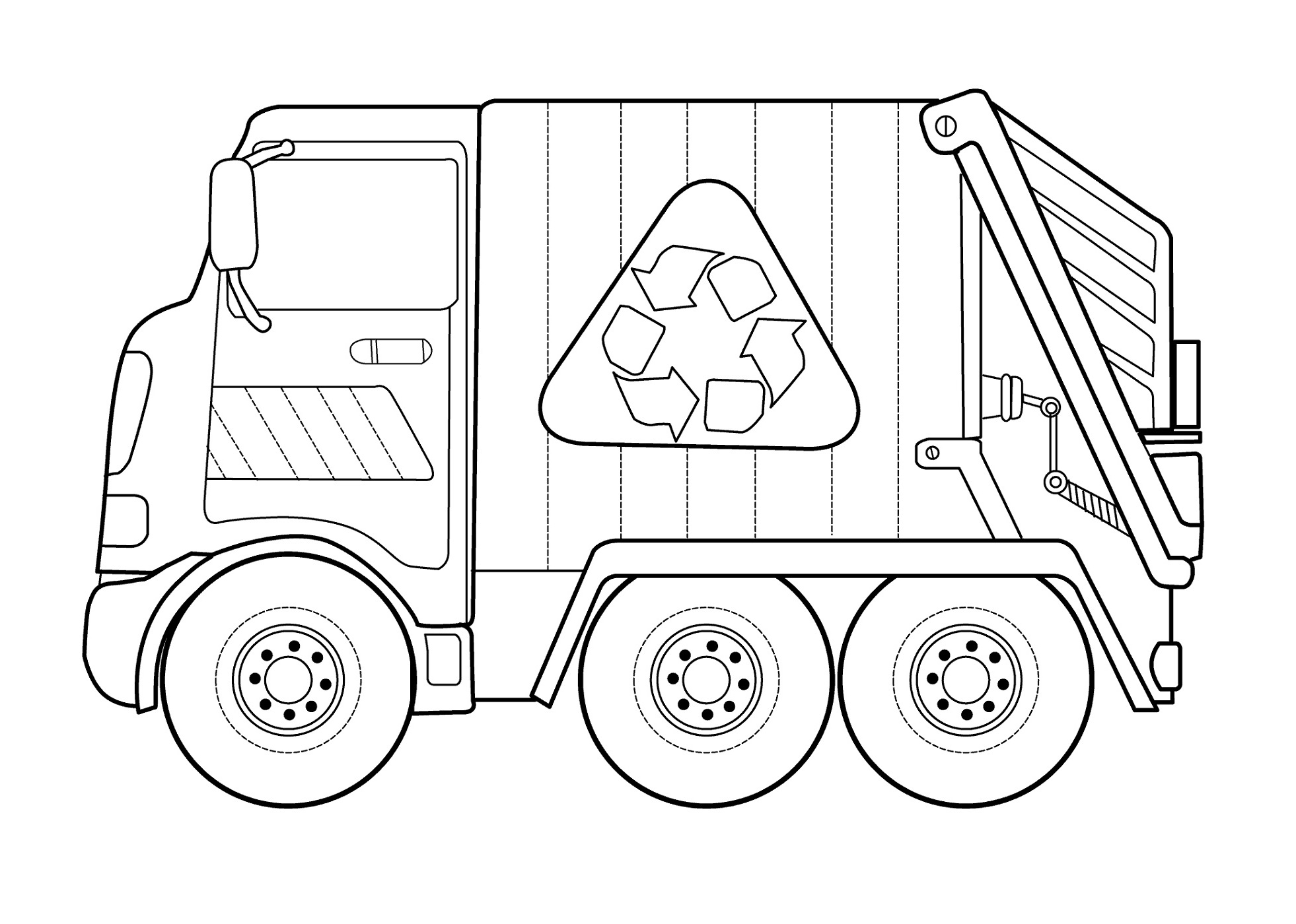 Recycling Truck Color Pages