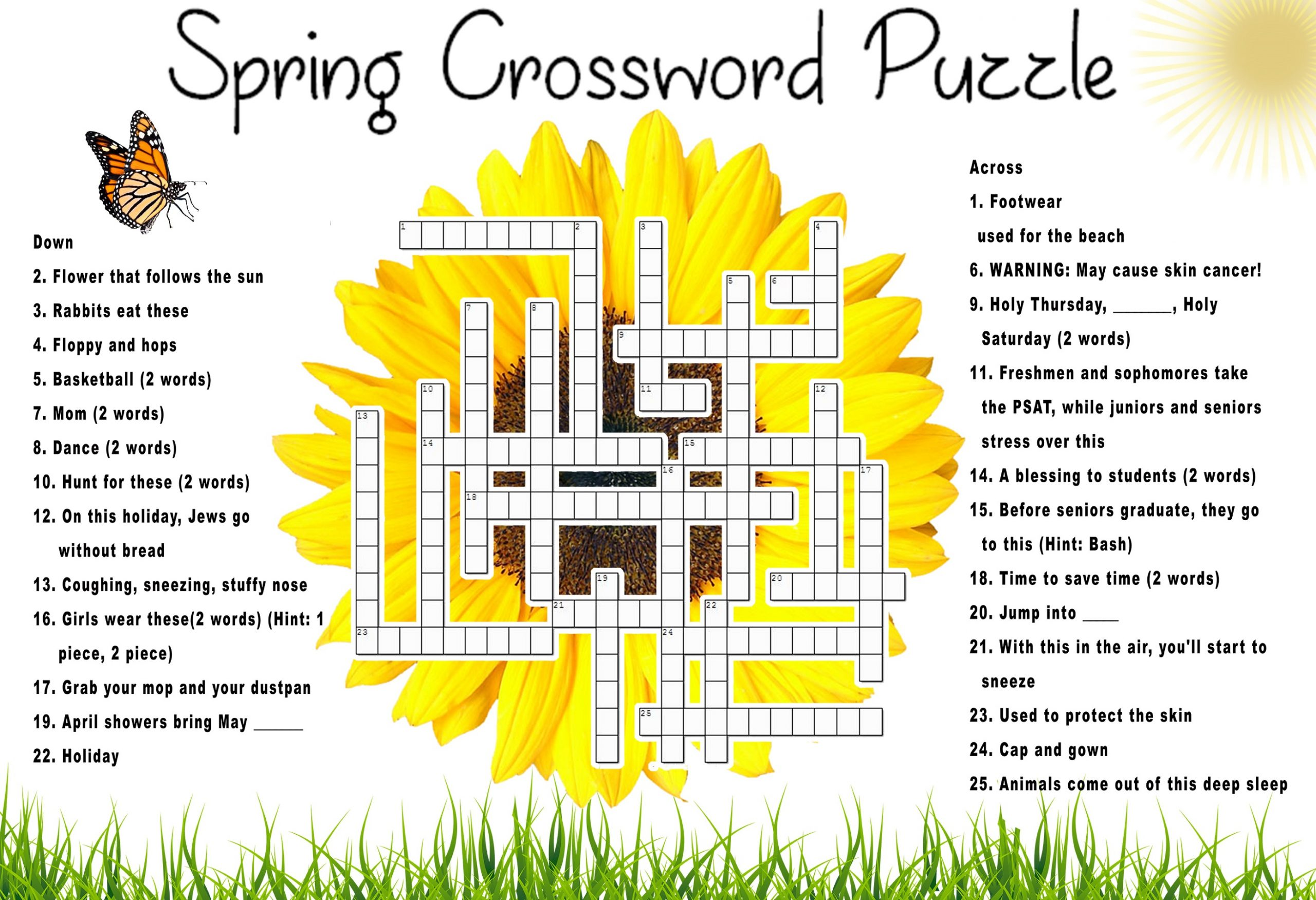 Spring Puzzle Words