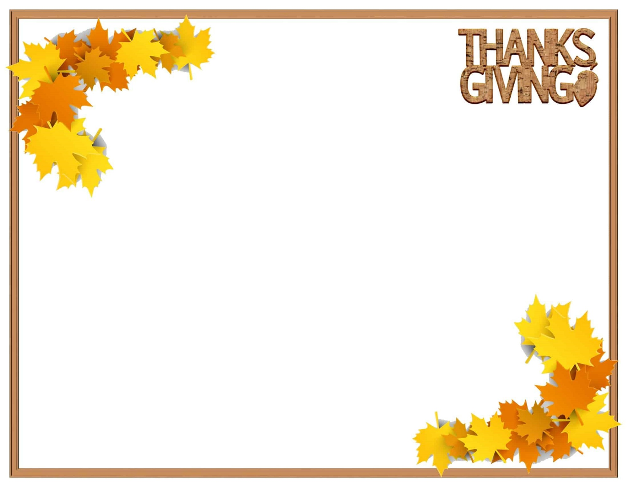 Thanksgiving Border Free Printable Templates