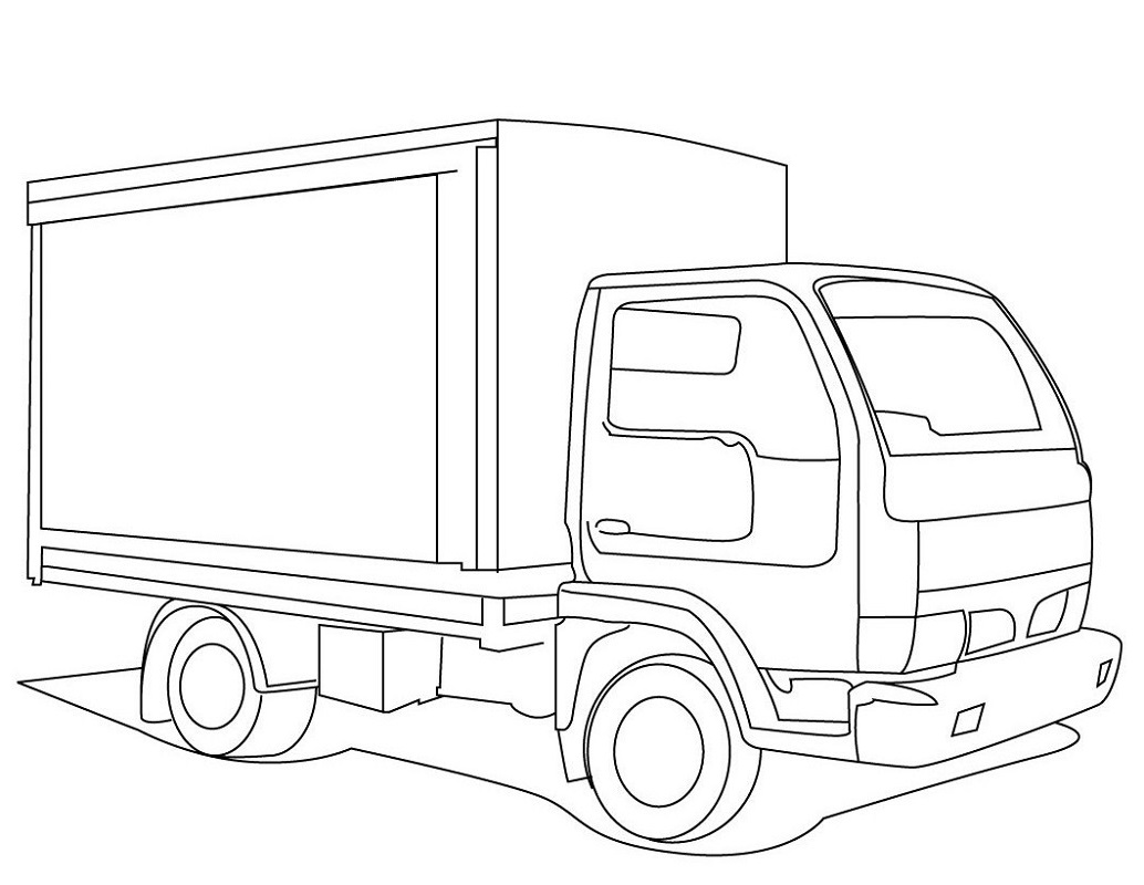 Truck Color Pages for Kids