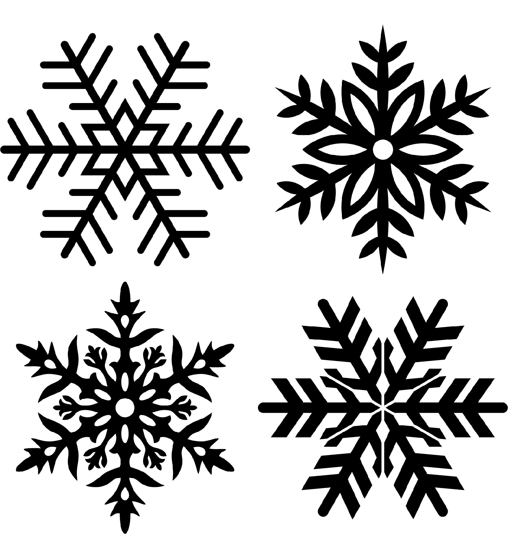 Winter Stencils Printable