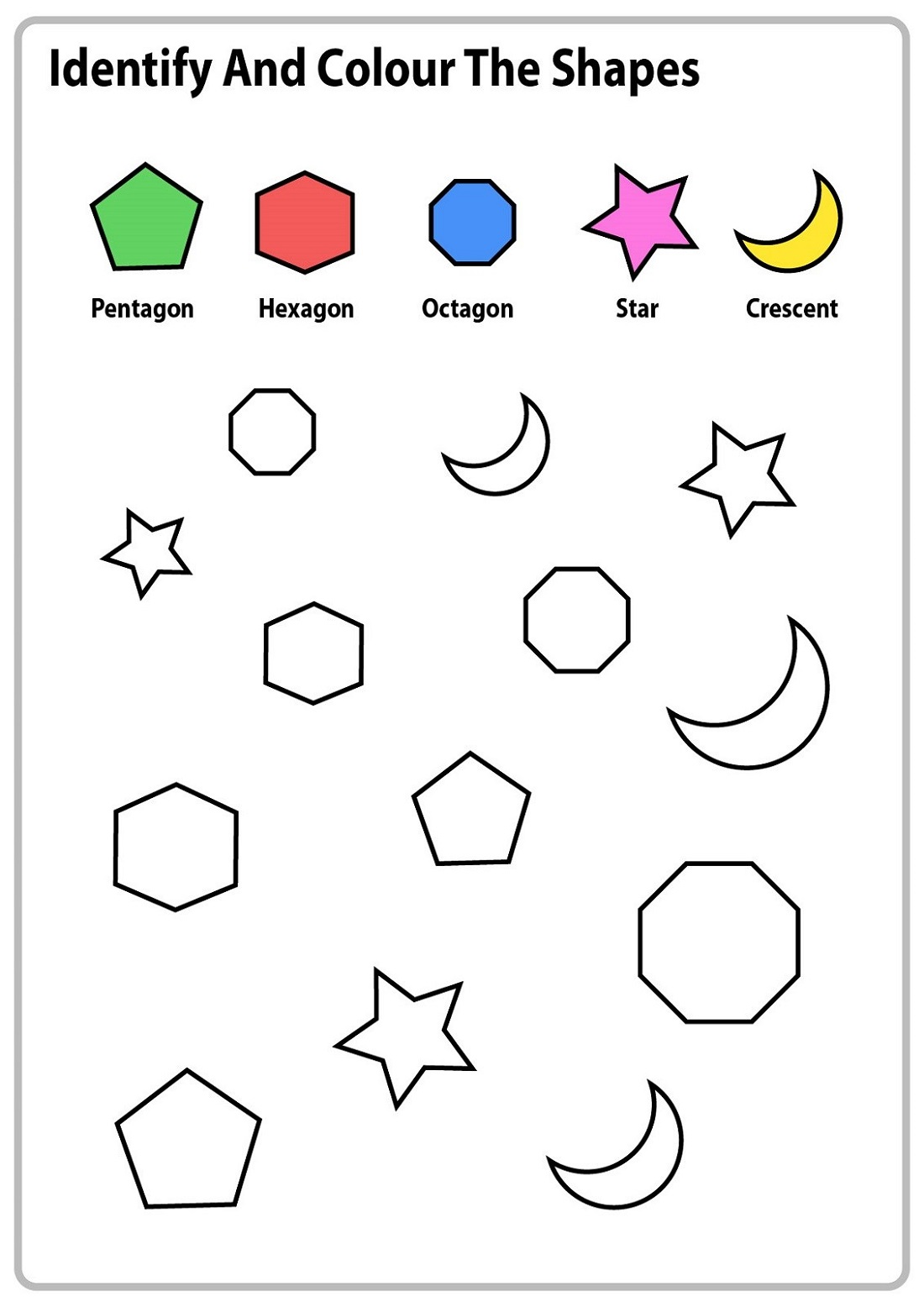 Coloring Shapes And Numbers