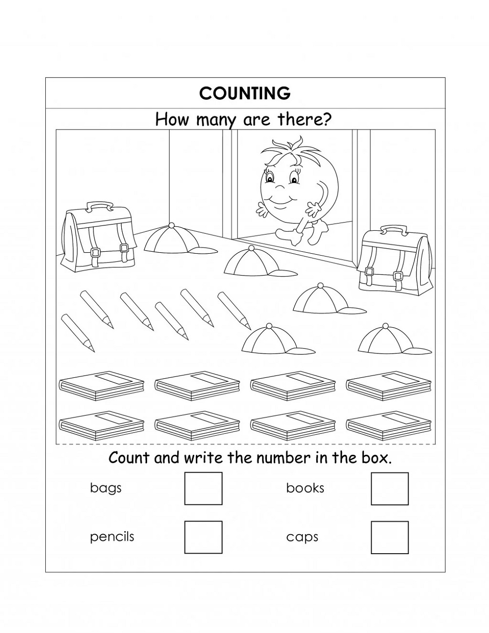 Kids Fun Worksheets Counting