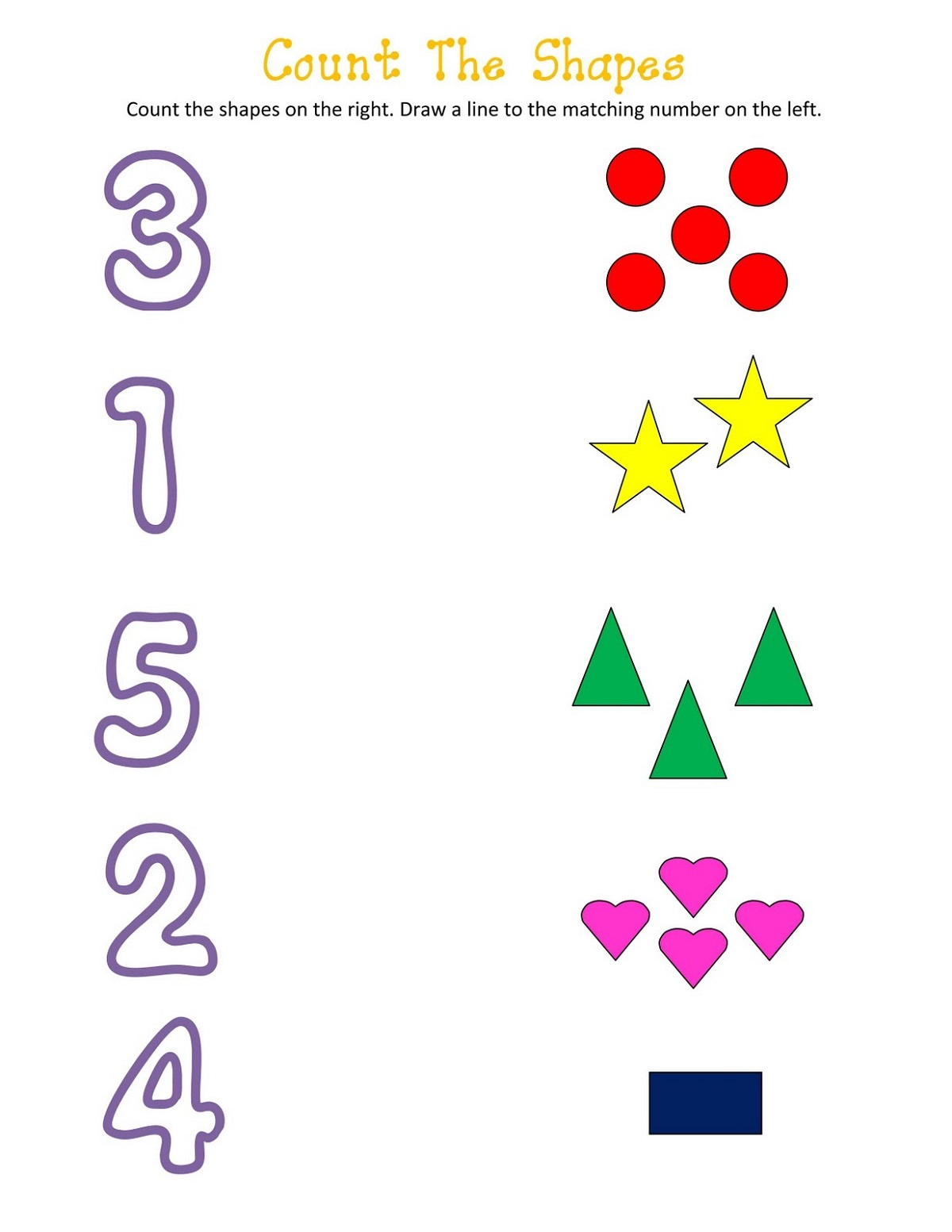 Matching Shapes And Numbers