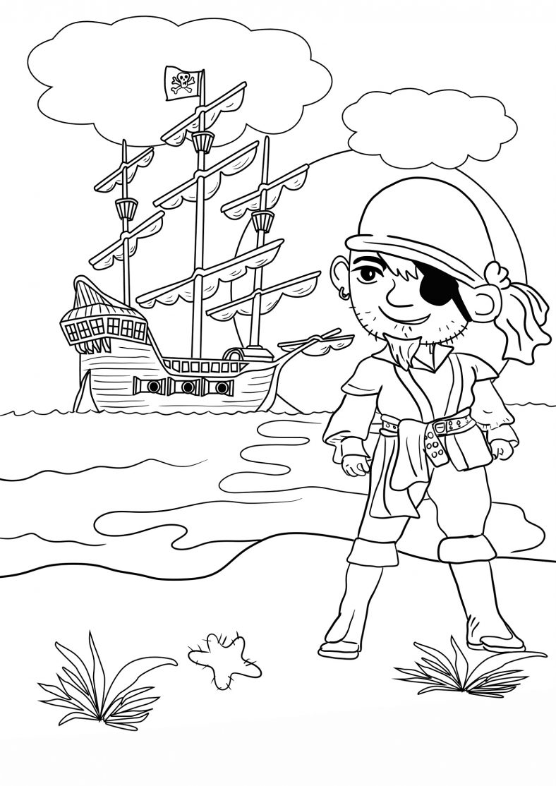 Pirate Color Pages for Kids