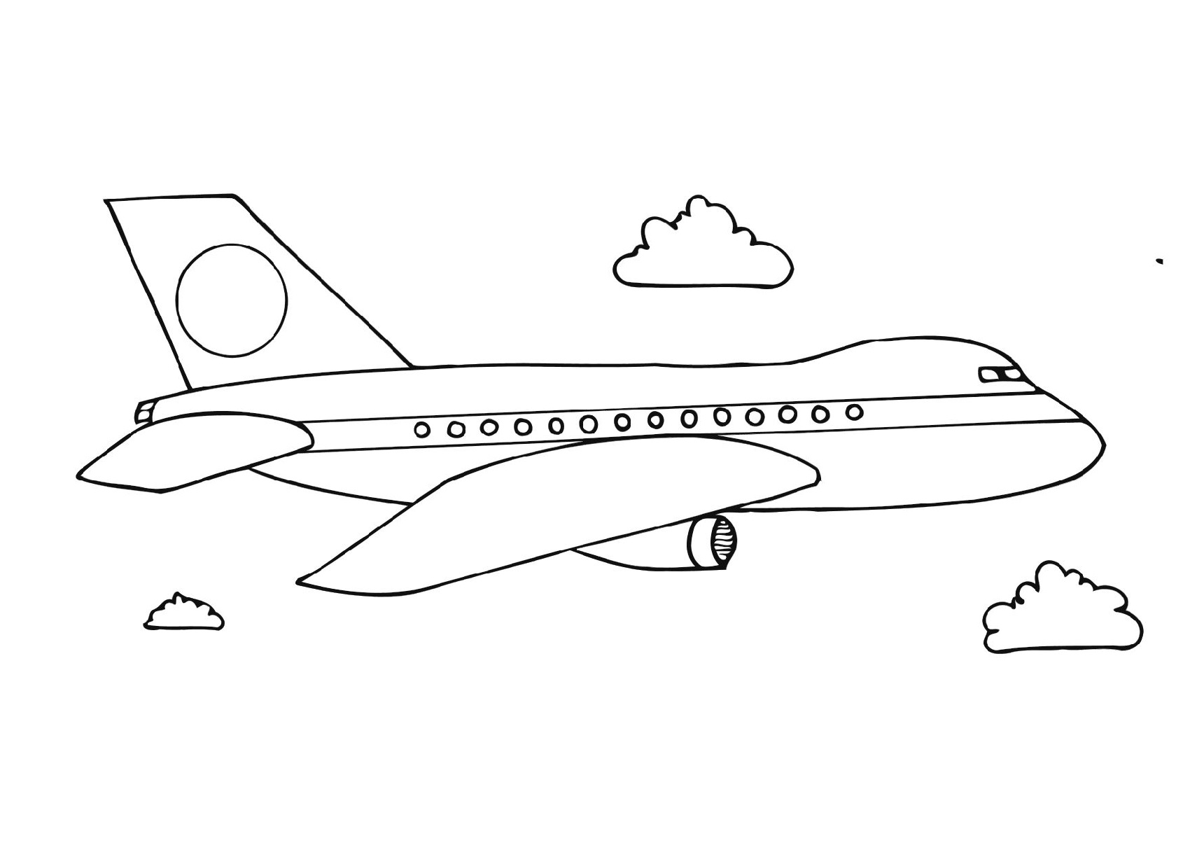 Planes Colouring Pages For Kids