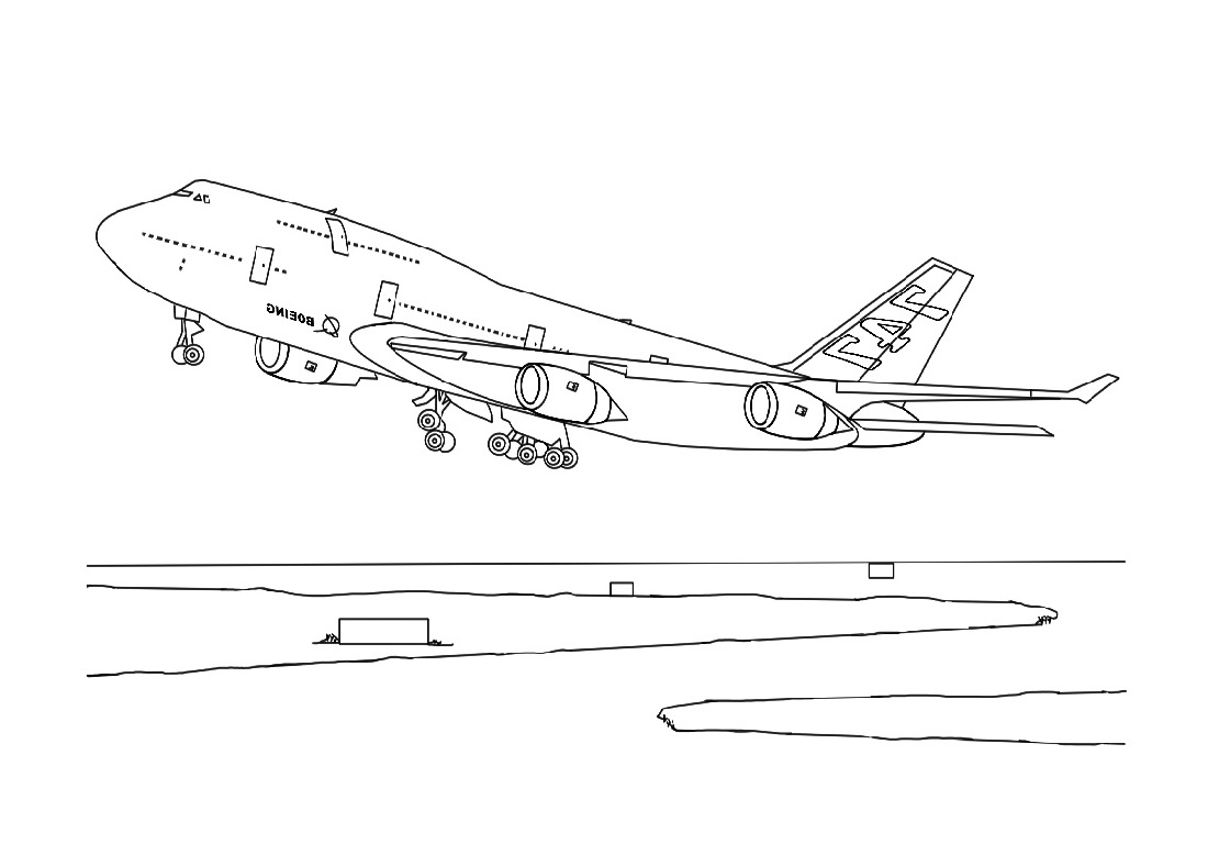 Planes Colouring Pages Take Off