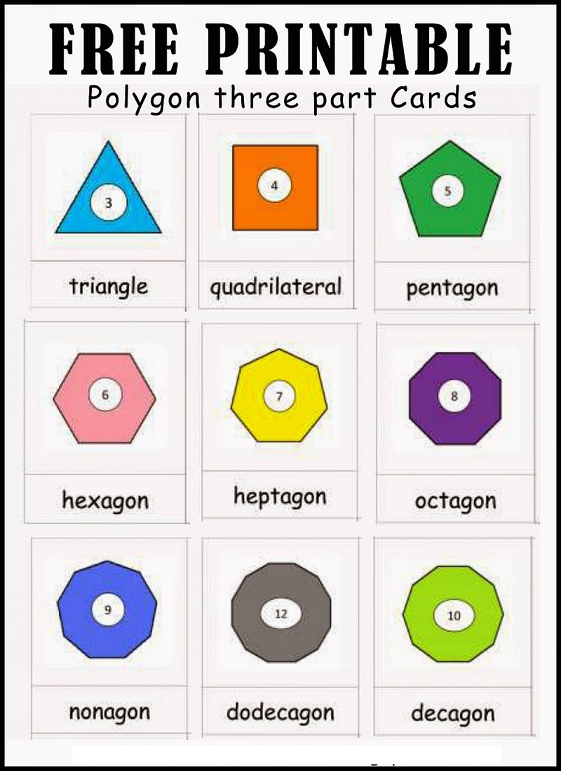 Polygons Printable Math Games