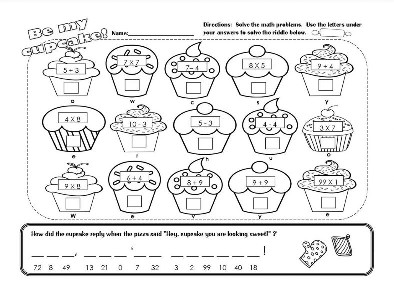 Printable Math Fun Sheets